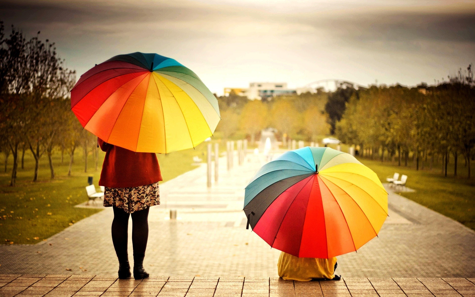 1920x1200 Colorful umbrella in cute kids hand nice wallpapers
