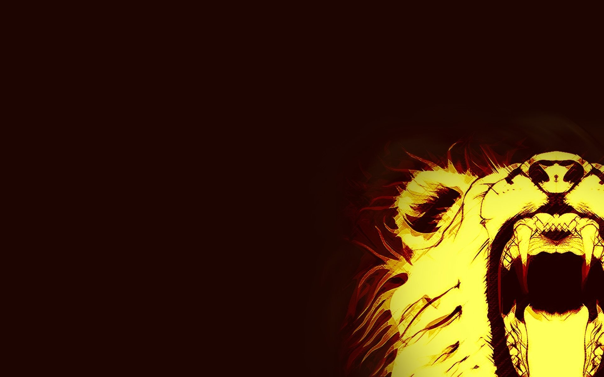 1920x1200 minimalism fire leo abstract animals lion fire fangs