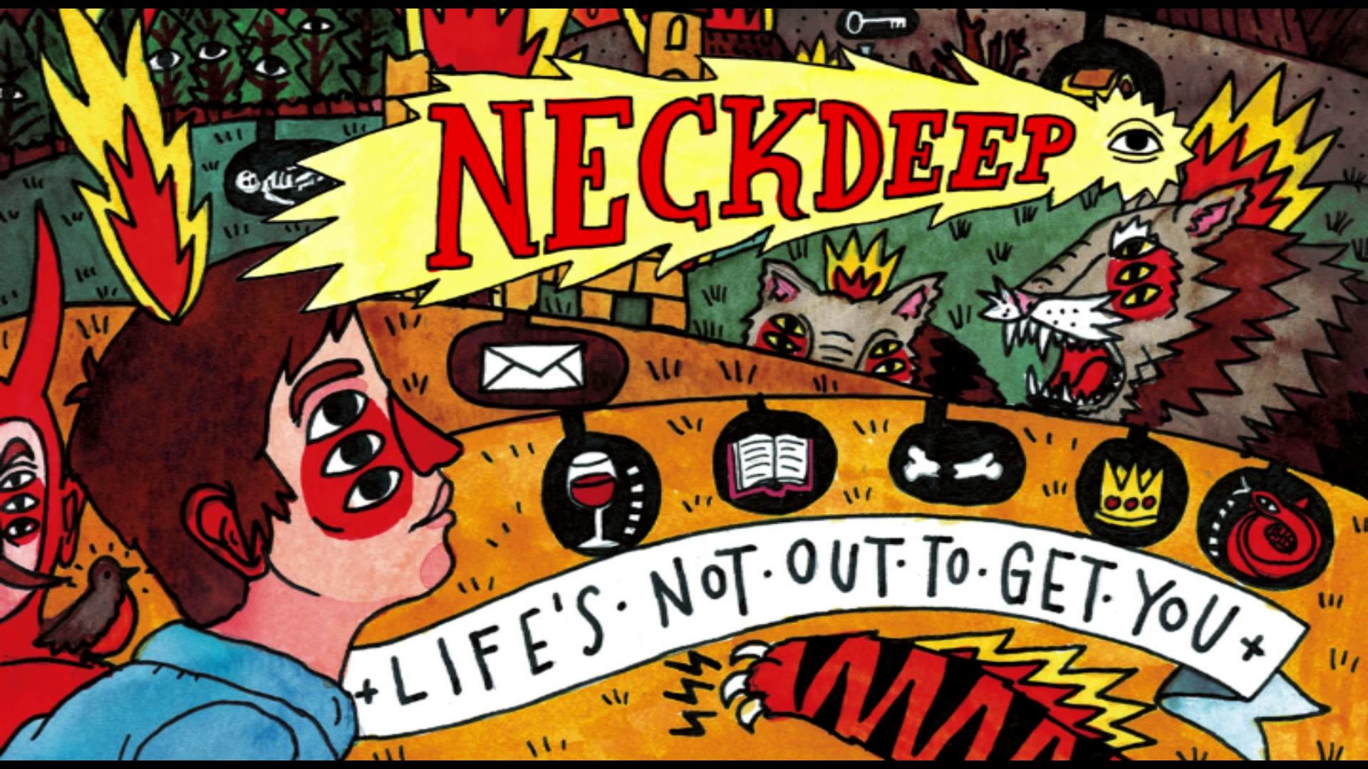 1920x1080 neck deep life's not out to get you album artwork - Google Search