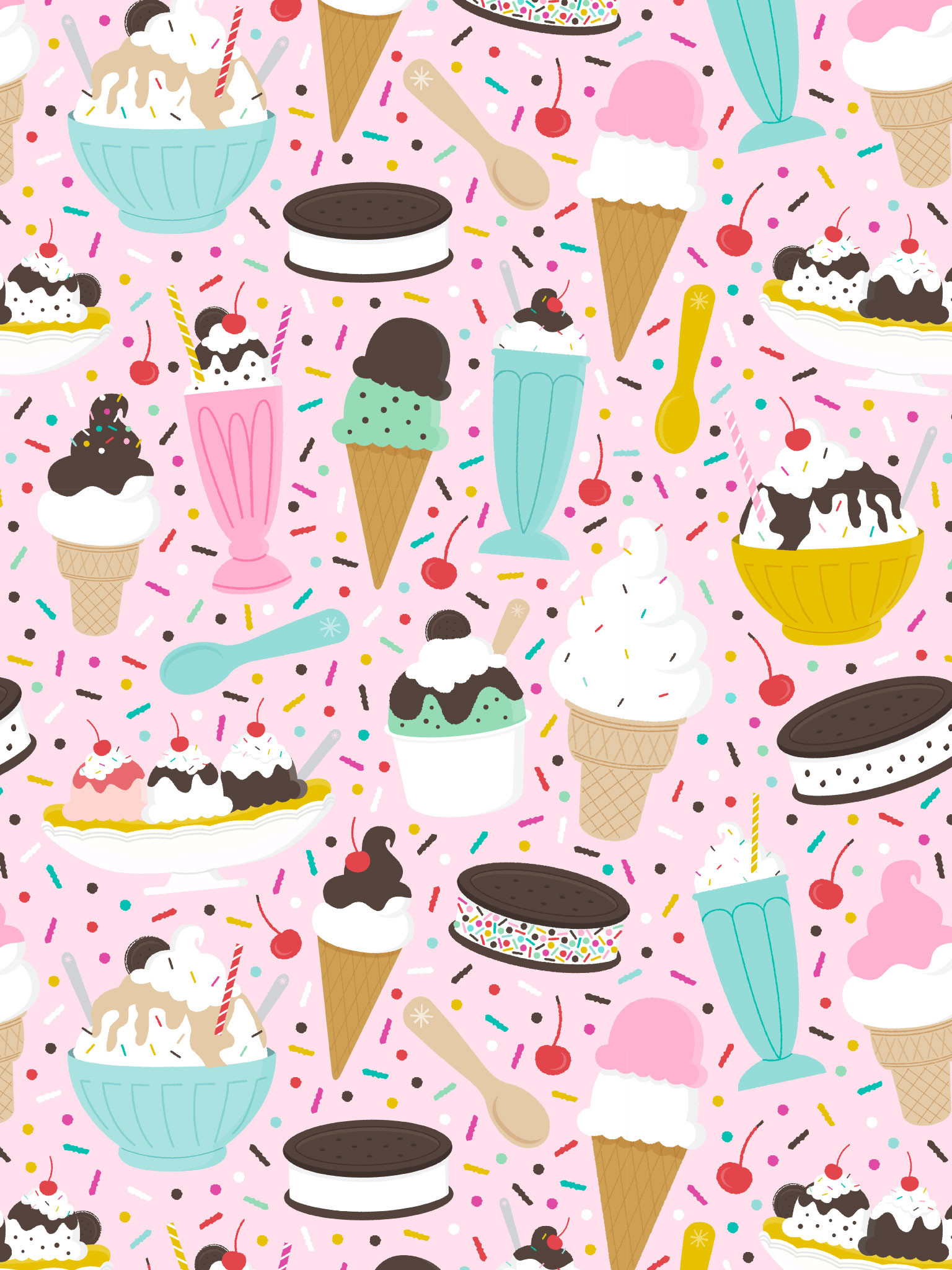 1536x2048 Milkshake Shop, Iphone Wallpaper, Ice Cream, Cheer, Goodies, Screen, Funds