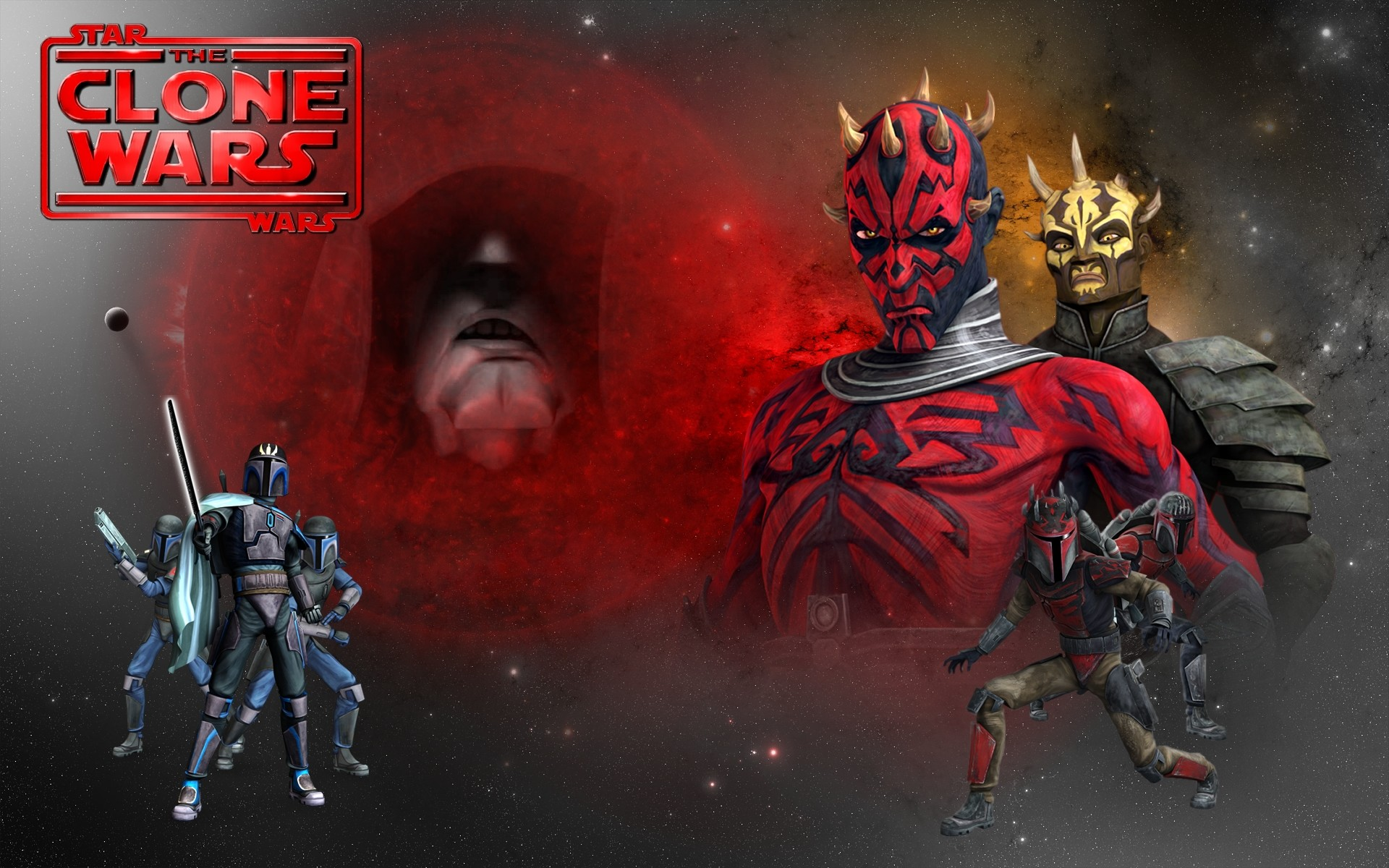 1920x1200 ... Clone wars - Maul, Savage wallpaper by LordRadim