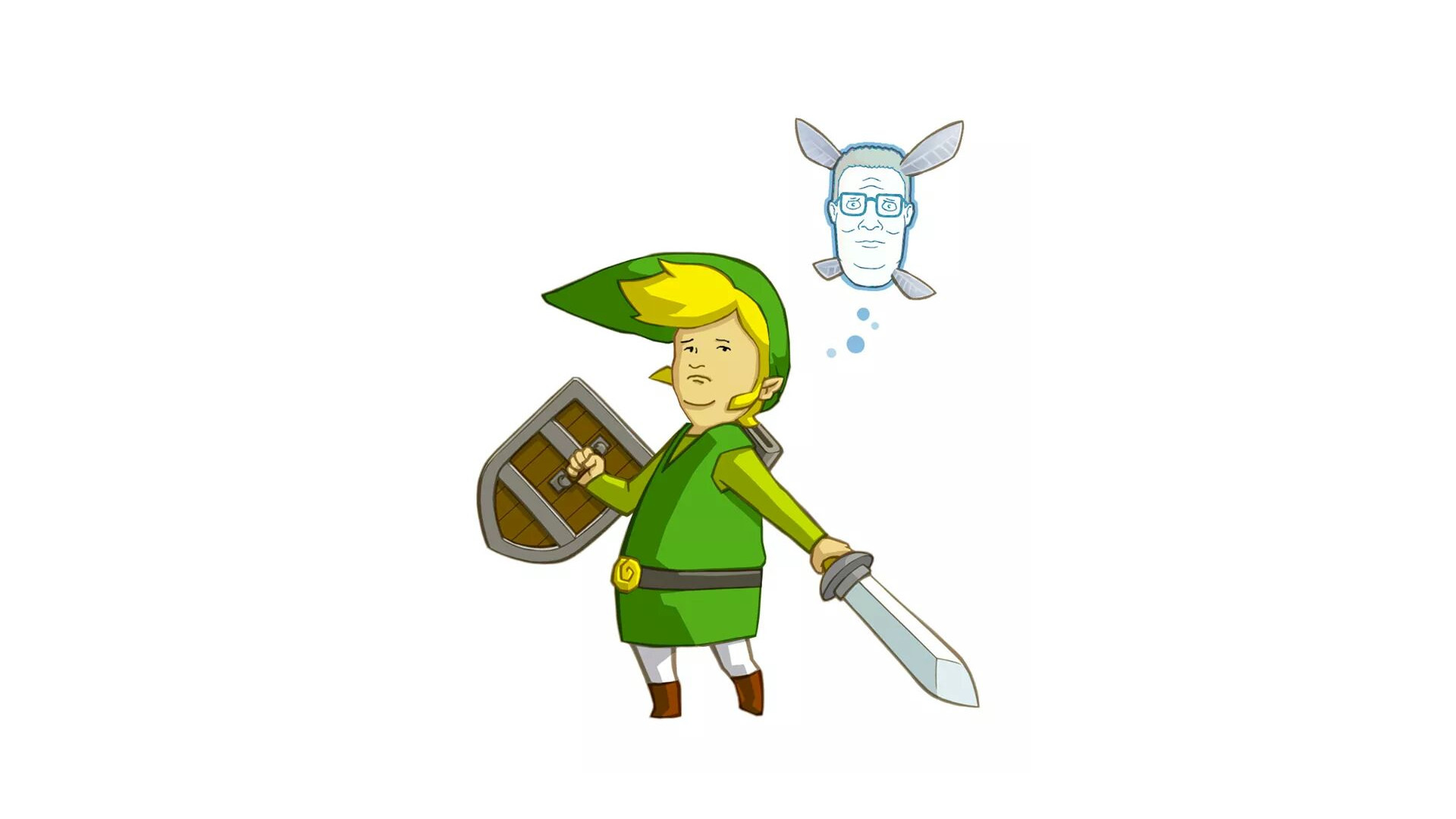 1920x1080 General  crossover humor King of the Hill The Legend of Zelda