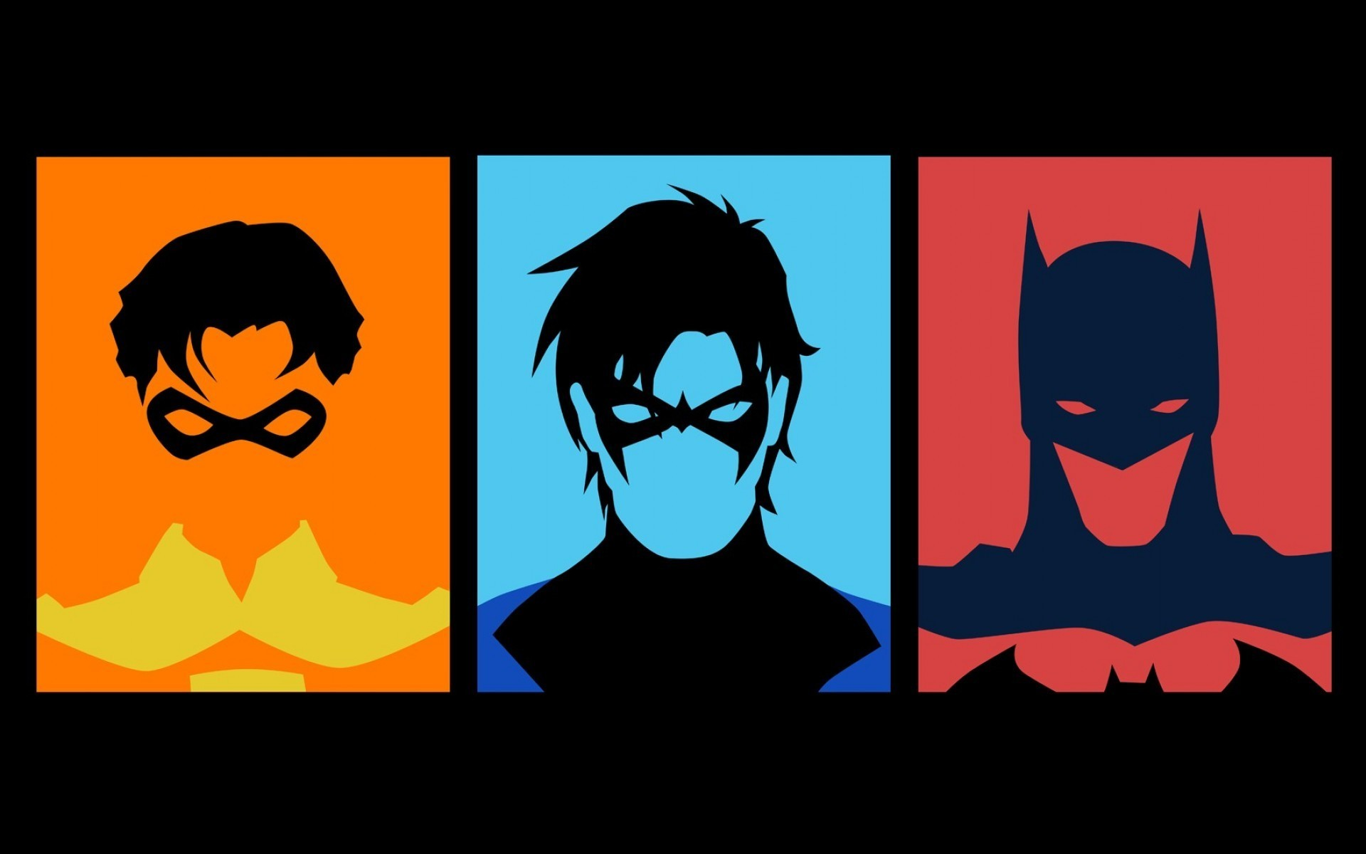 1920x1200 Wallpapers :: Batman, Robin, minimalistic, DC Comics, superheroes .
