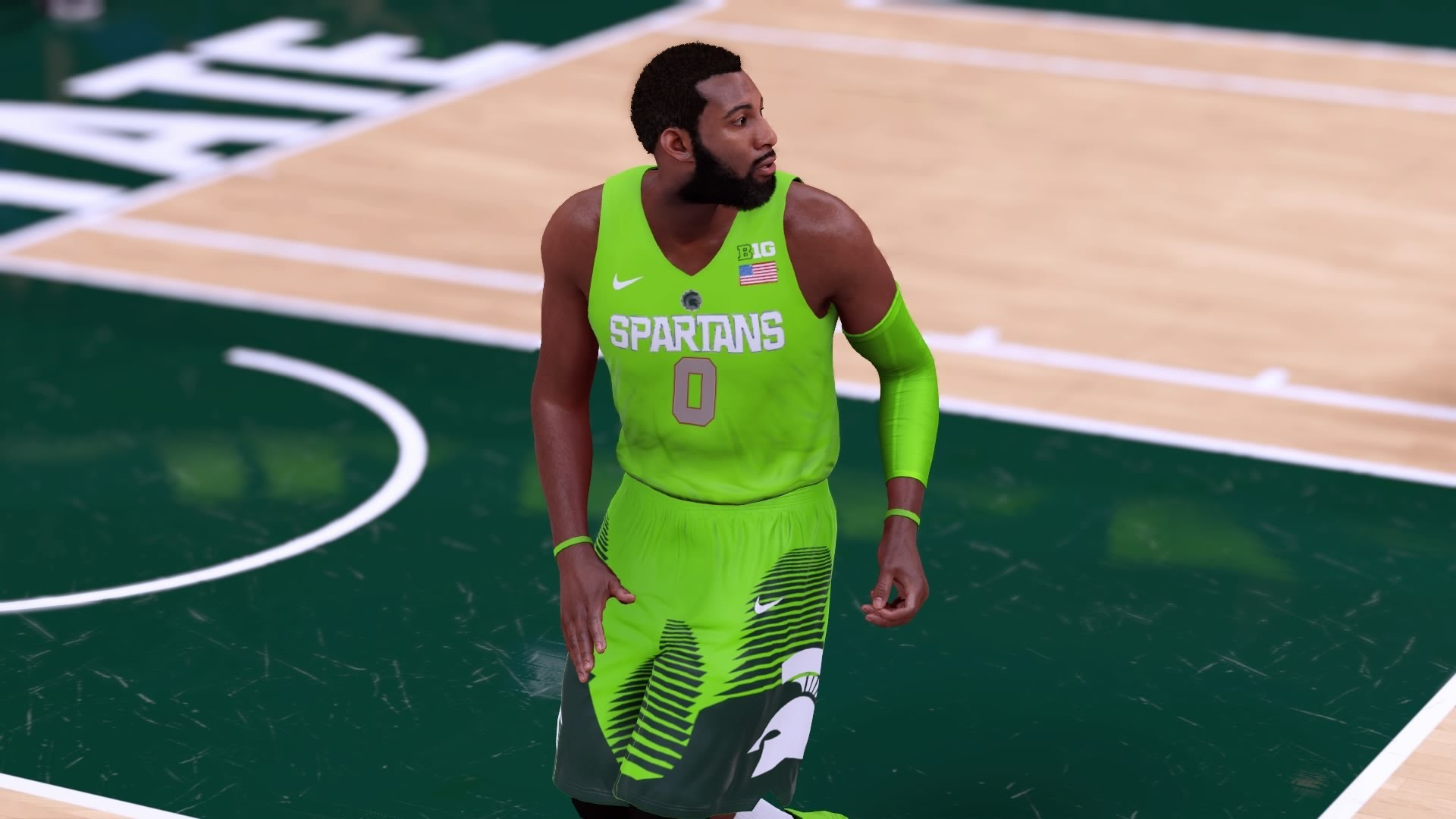 1920x1080 Michigan State Spartans Lime Green Jersey Tutorial (NBA 2K16) - YouTube