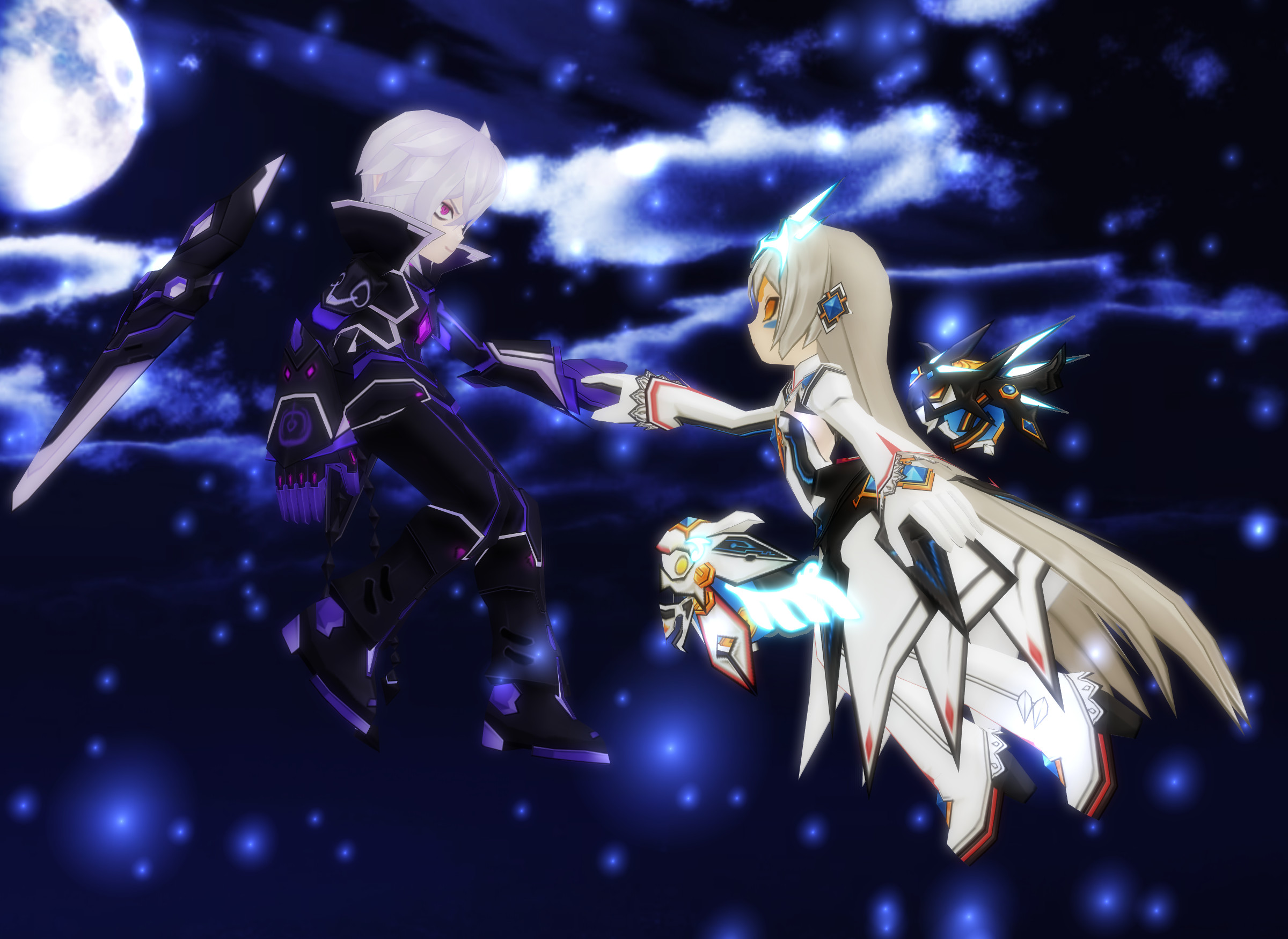 2400x1750 ... Elsword] A Sky for Two (Add x Eve) by Sallaria