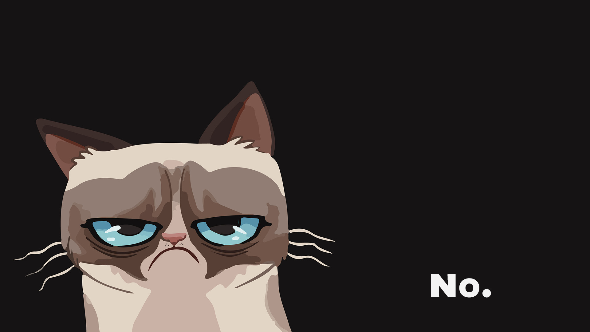 1920x1080 Grumpy Cat Drawing wallpaper