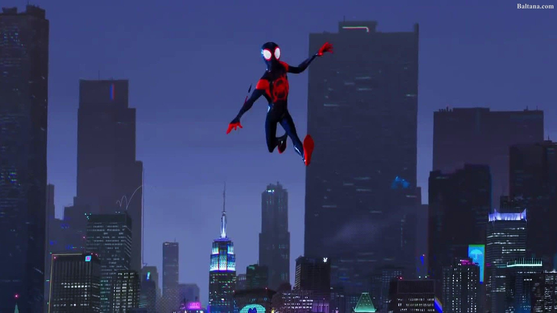 1920x1080 Spiderman Into The Spider Verse Animated Movie HQ Desktop Wallpaper .