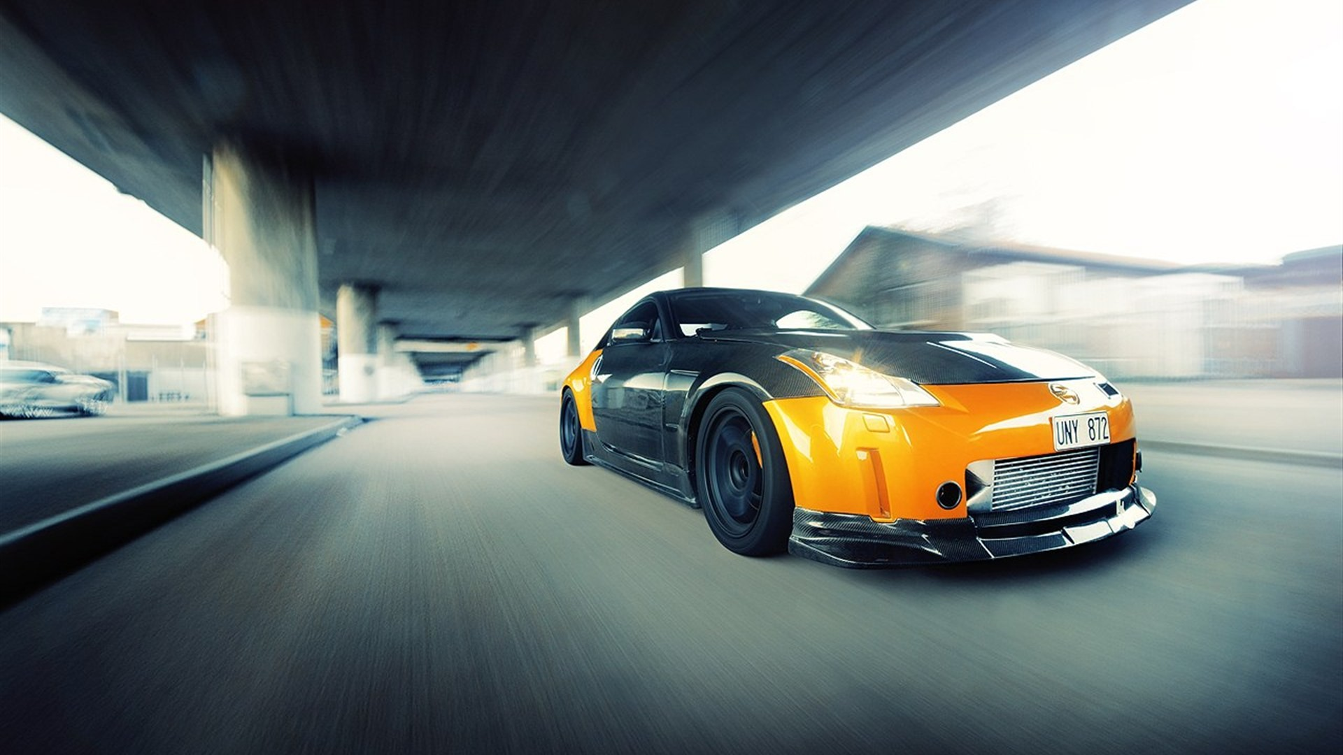 1920x1080 ... nissan 350z, car, motion picture, road, speeding, auto wallpaper