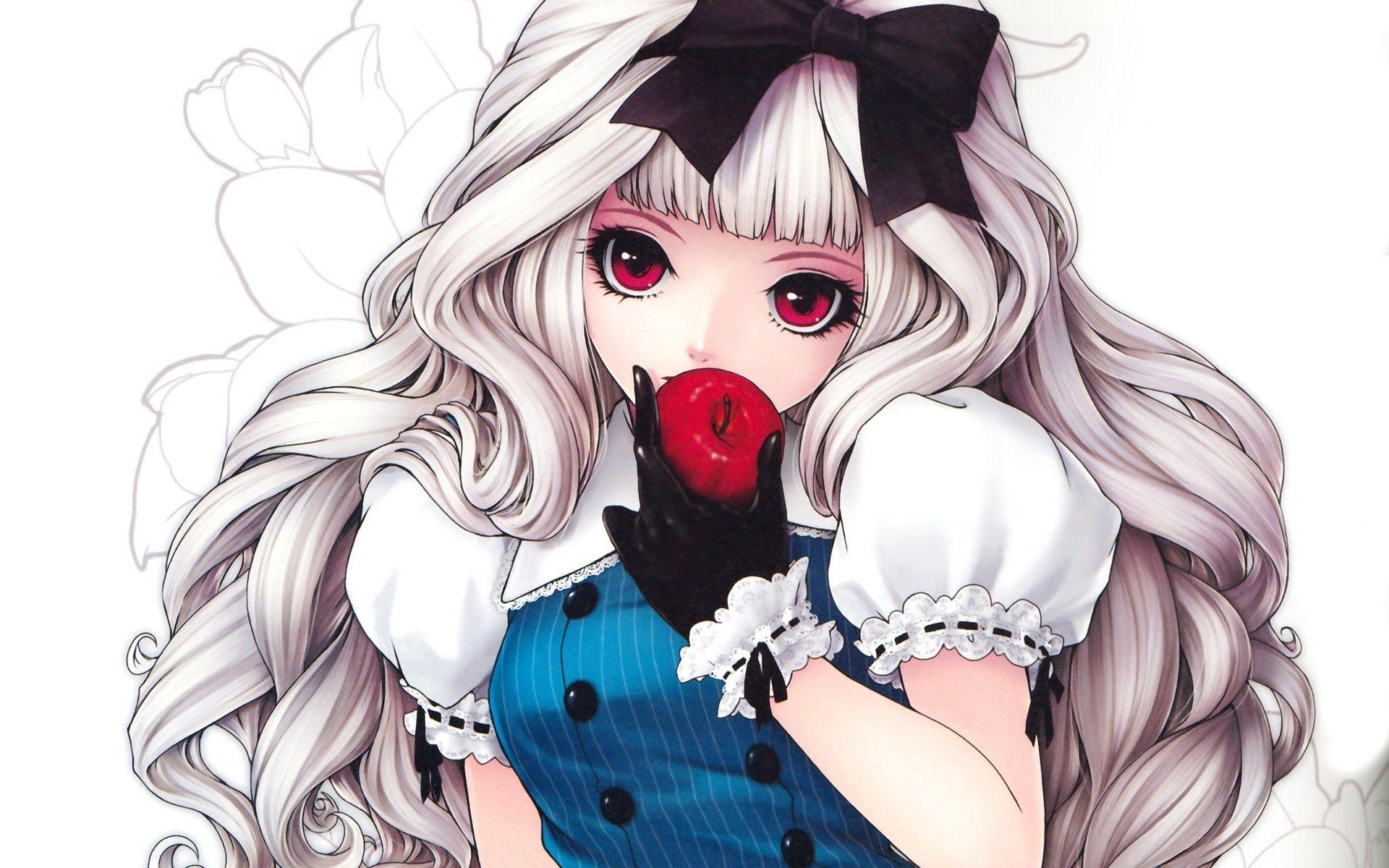Anime vampire girl with blonde hair