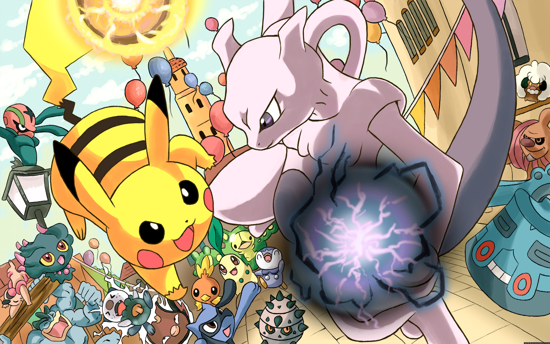 1920x1200 Pikachu/Mewtwo wallpaper by DragonsDenDA.deviantart.com on @deviantART