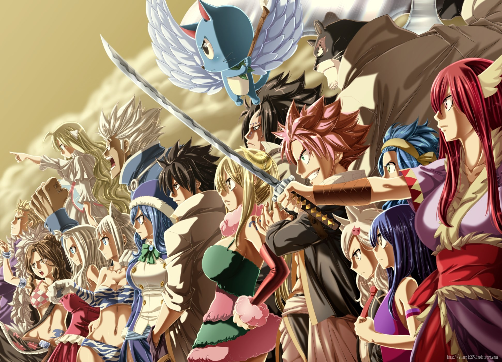 1942x1400 free computer wallpaper for fairy tail, Yarnell London 2017-03-19