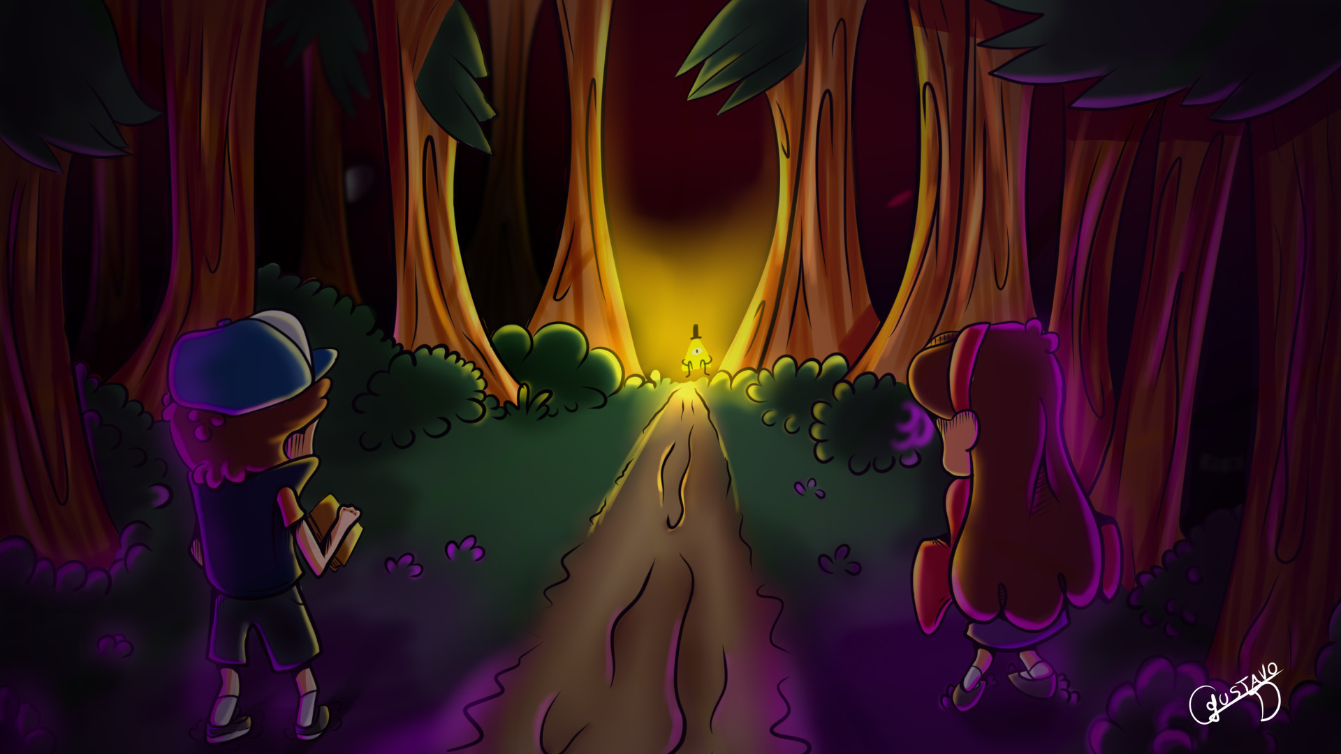 1920x1080 Speed Art Gravity Falls