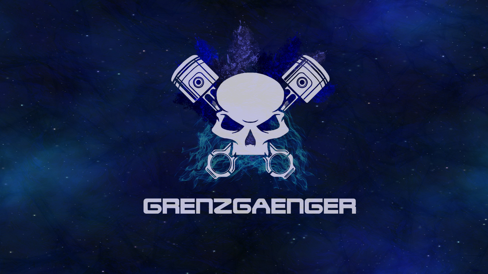 1920x1080 Produkte - Logo Motorcycle Club Grenzgaenger Blau Wallpaper