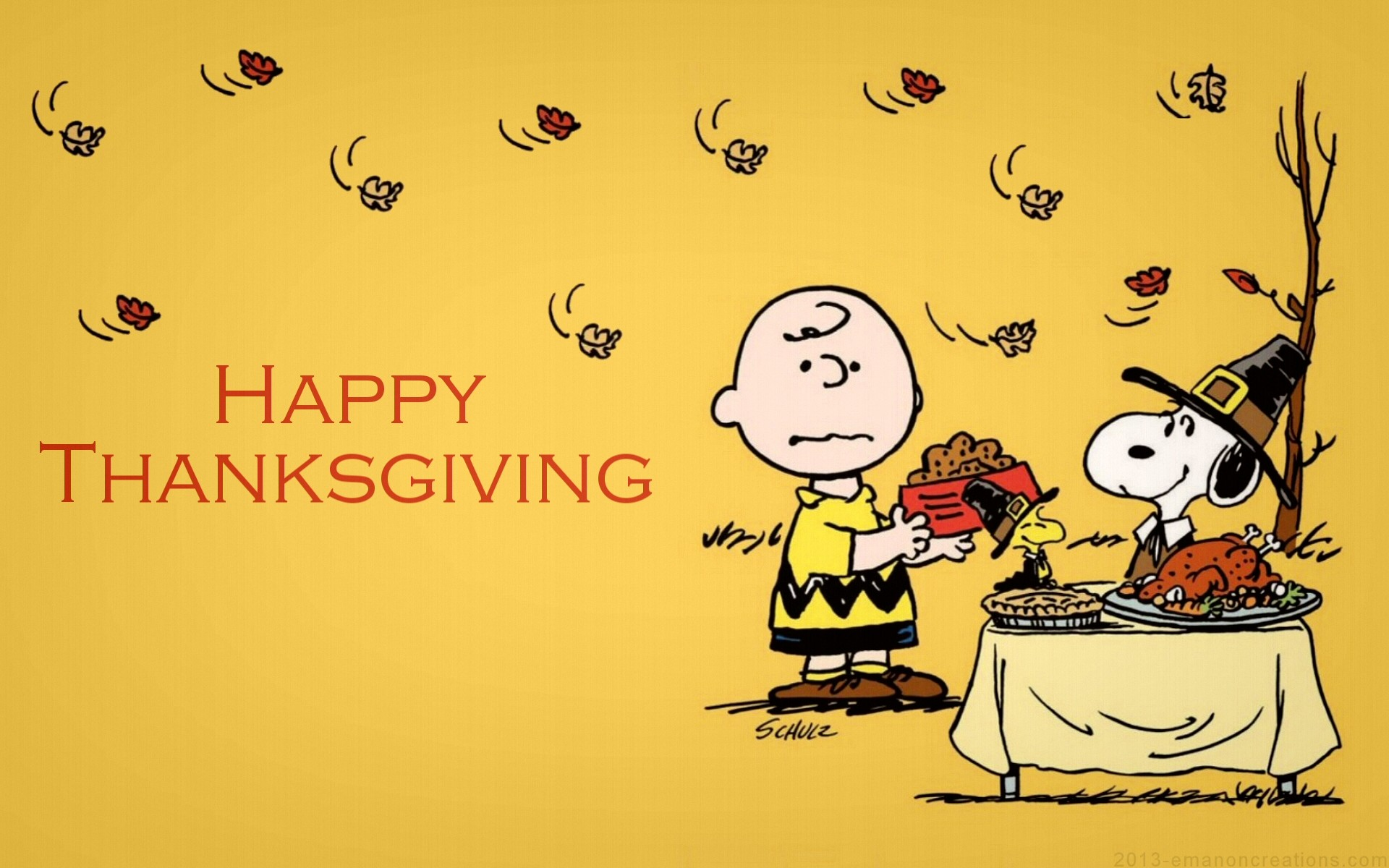 charlie brown thanksgiving desktop wallpaper (49+ images)