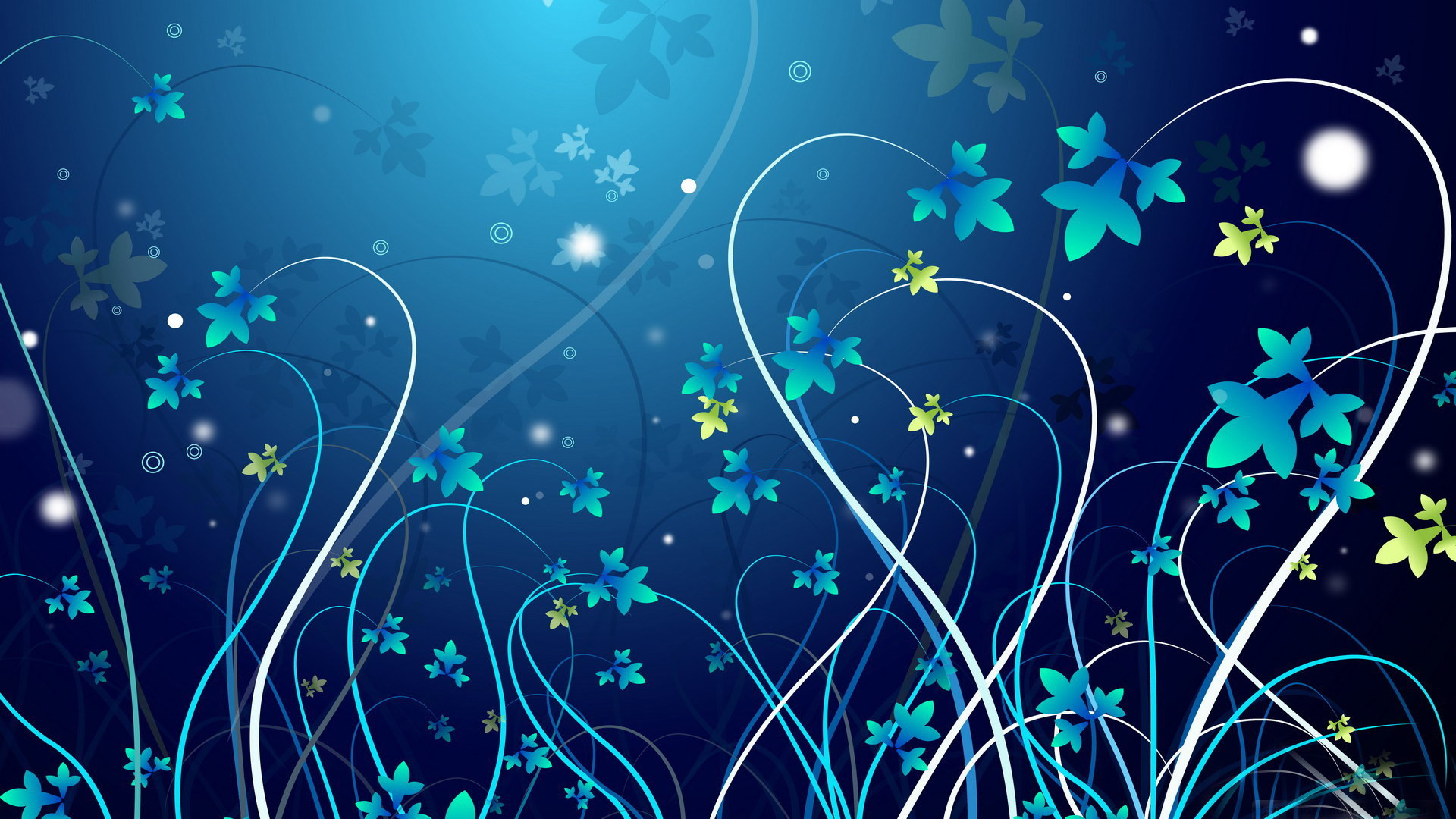 1920x1080 blue flowers background