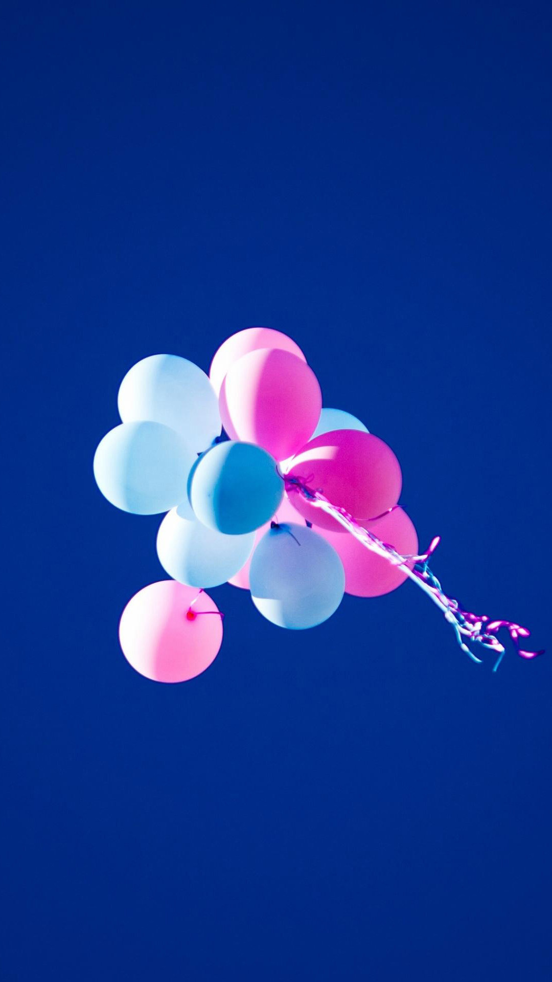 1080x1920 HD Balloons Blue Sky Pink Android Wallpaper ...