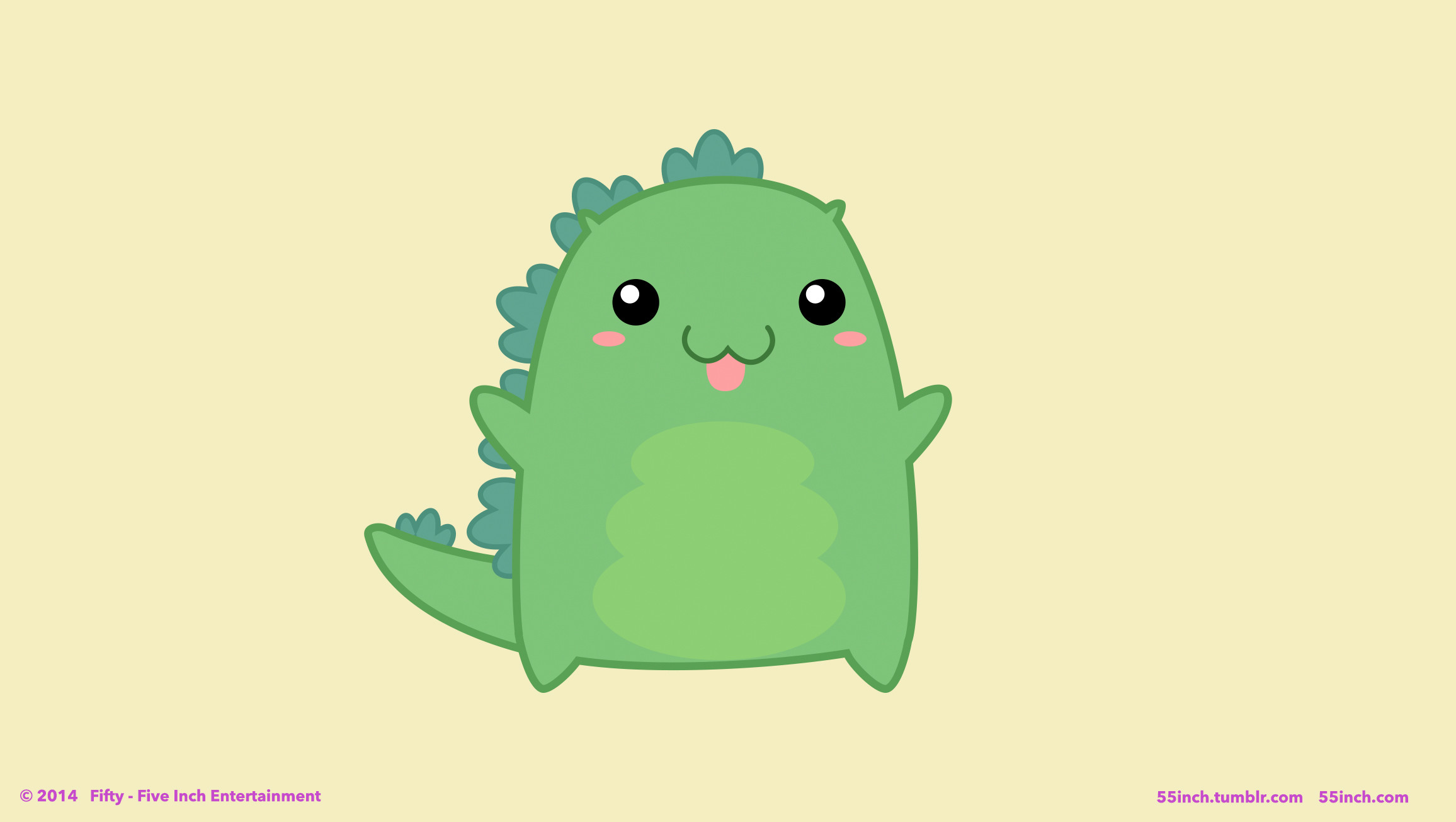 2312x1305 A super cute desktop from the new Godzilla Parody - How To Stop Godzilla ...