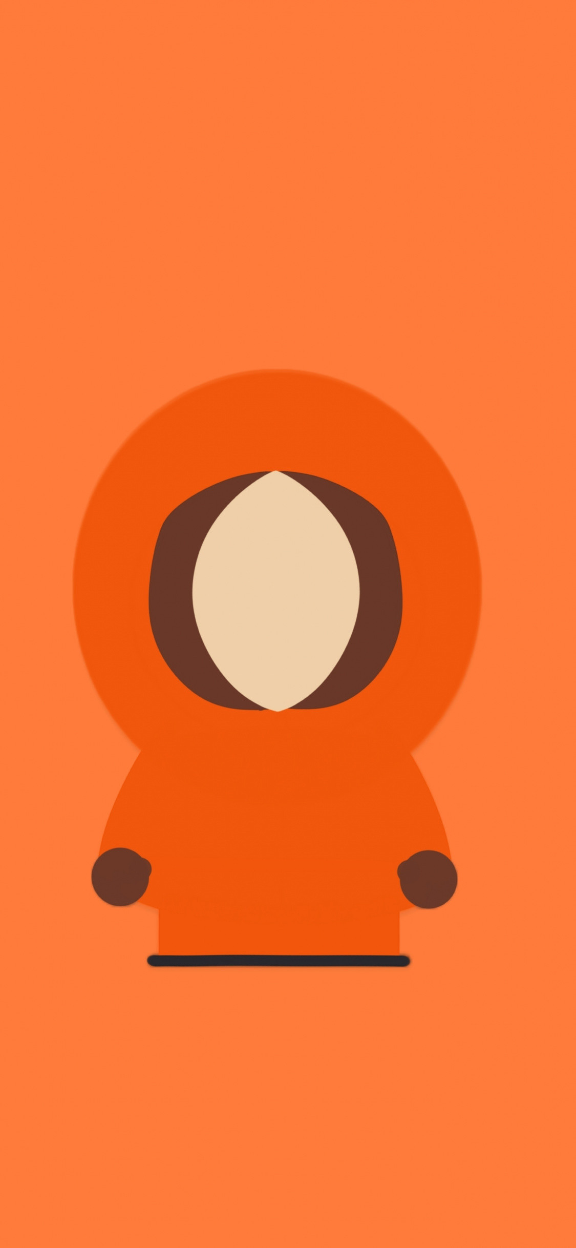 1125x2436 Kenny mccormick, south park, minimal, tv show,  wallpaper