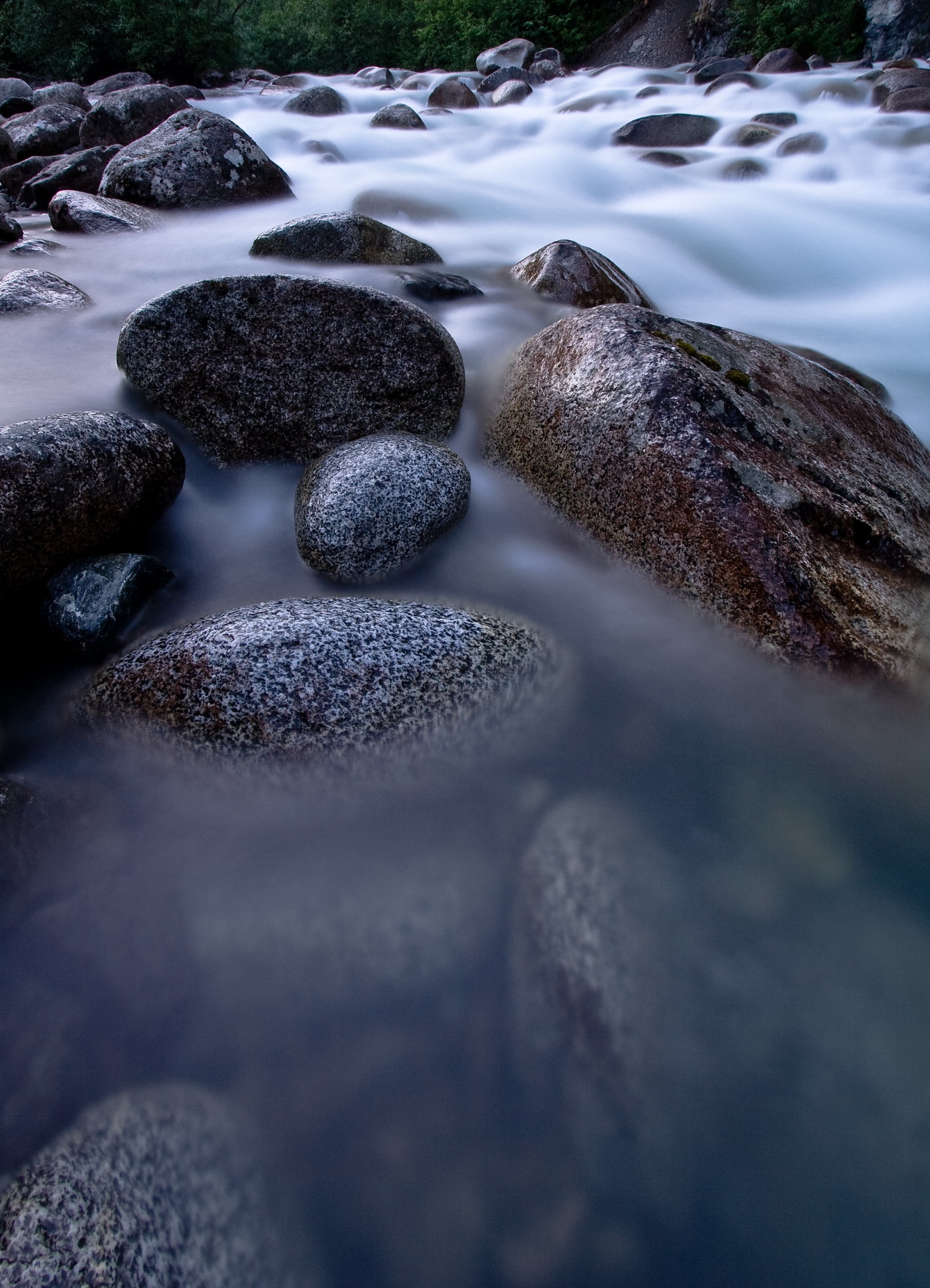 2145x2973 black stone with body of water HD wallpaper