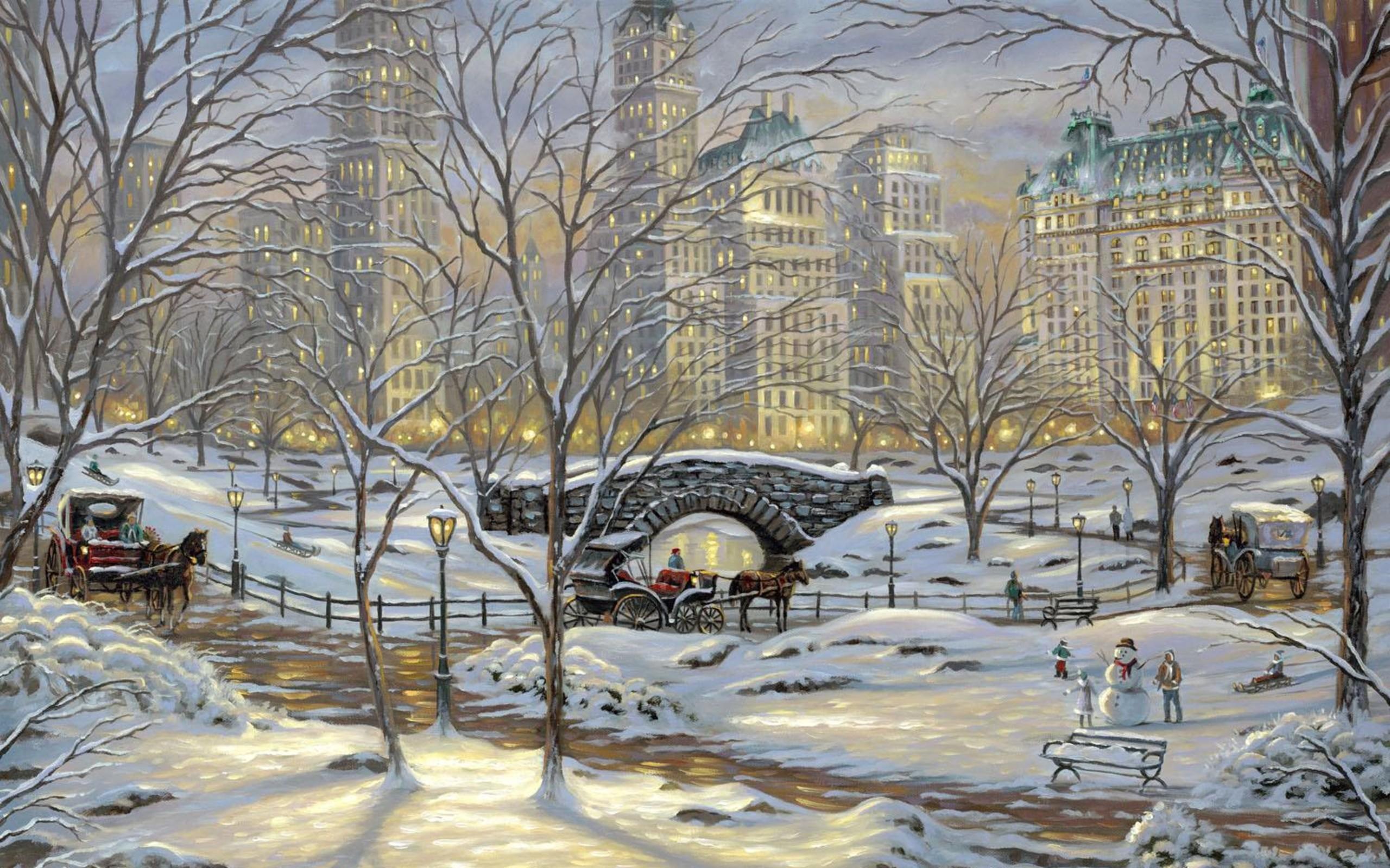 New york city winter wallpaper 62 images for Foto inverno per desktop