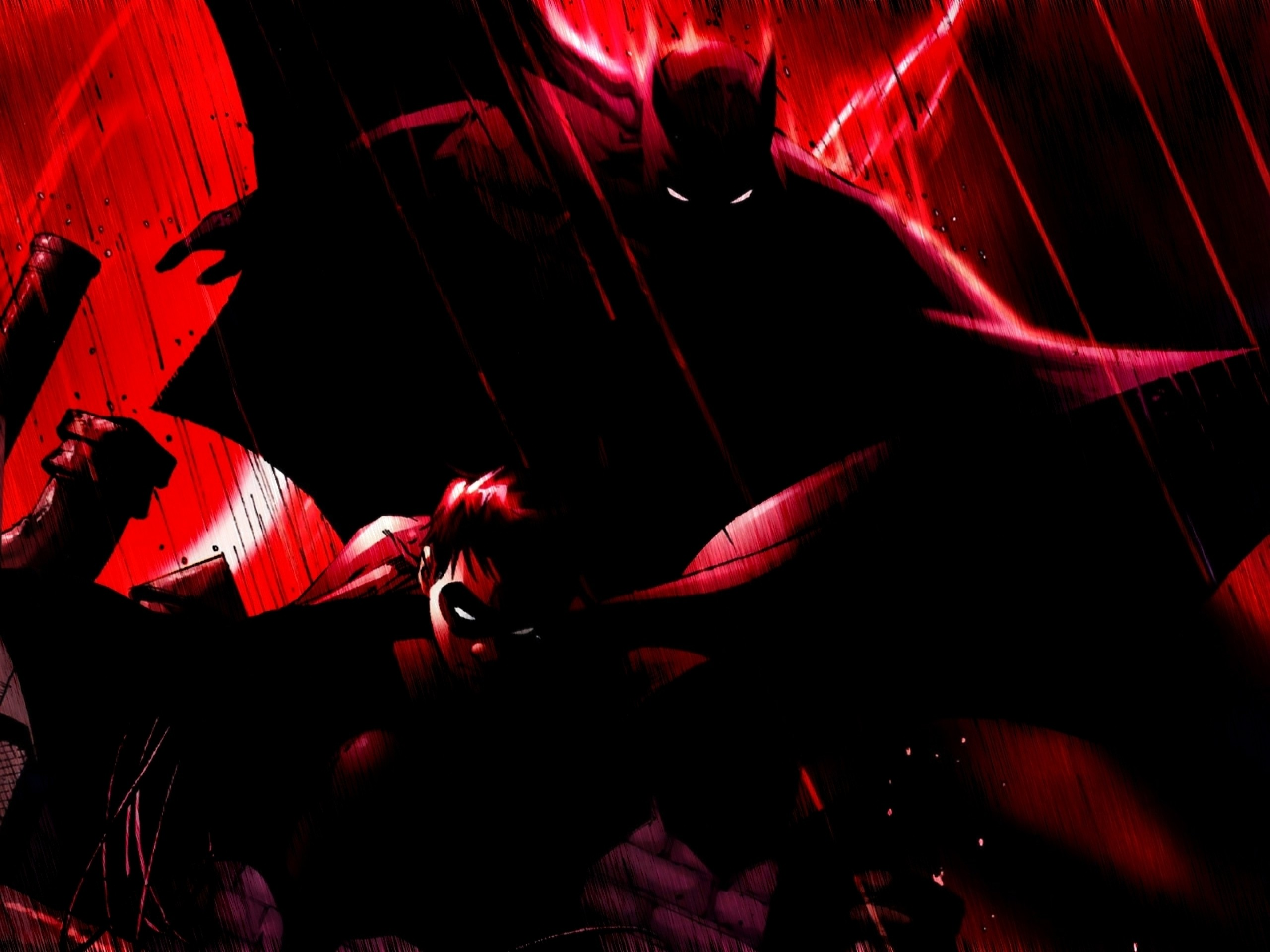 2560x1920 batman robin 1600x1200 wallpaper Art HD Wallpaper