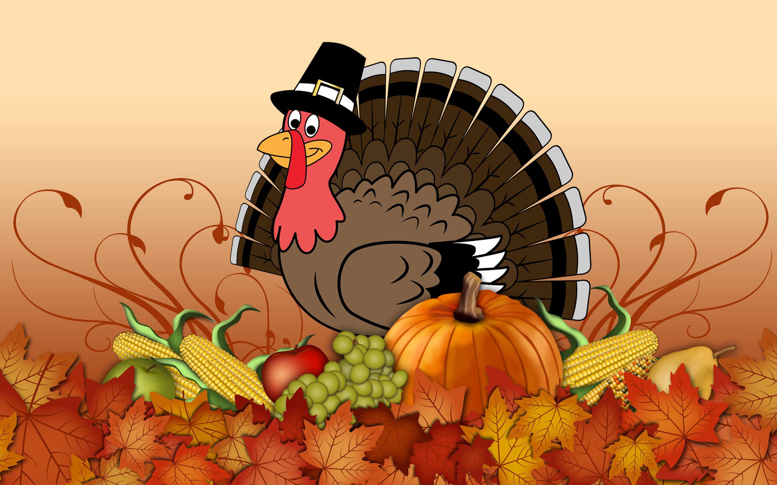 2560x1600 Thanksgiving Turkey Day Background Wallpaper HD