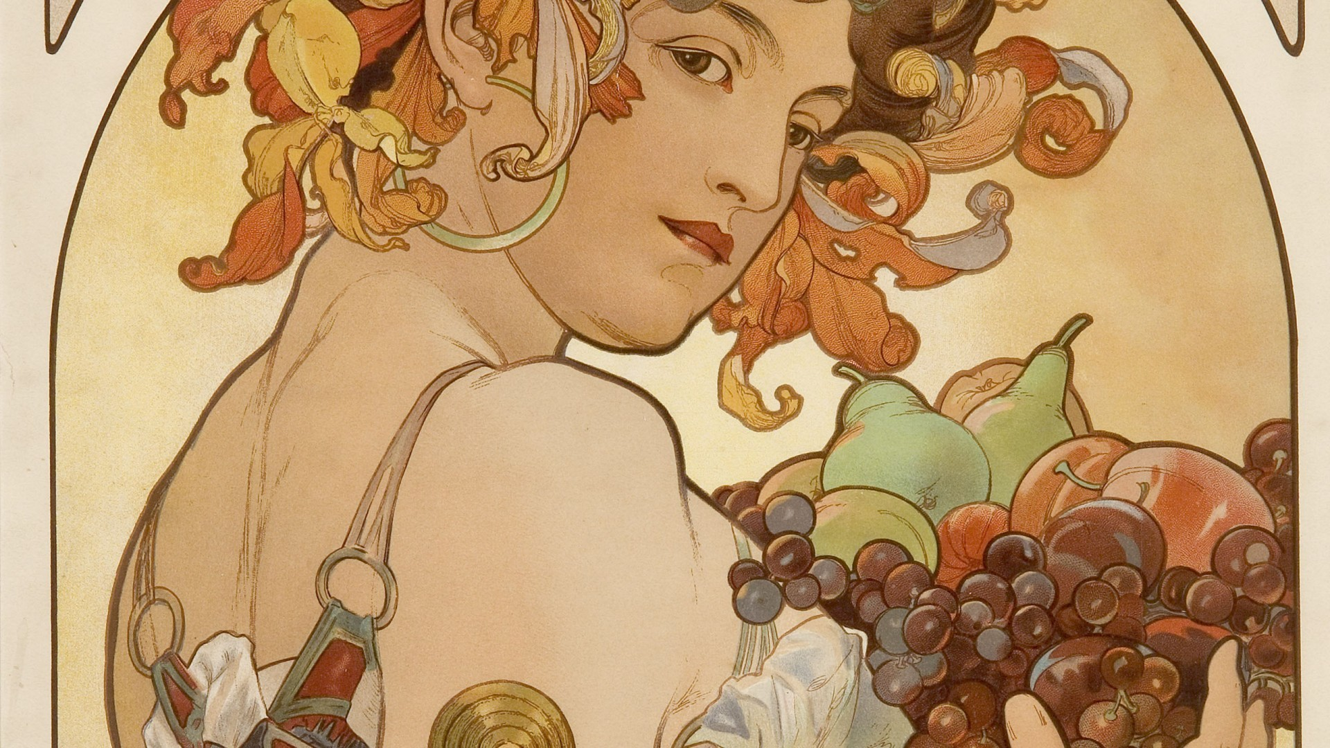 1920x1080 Alphonse Mucha Wallpaper Hd Resolution