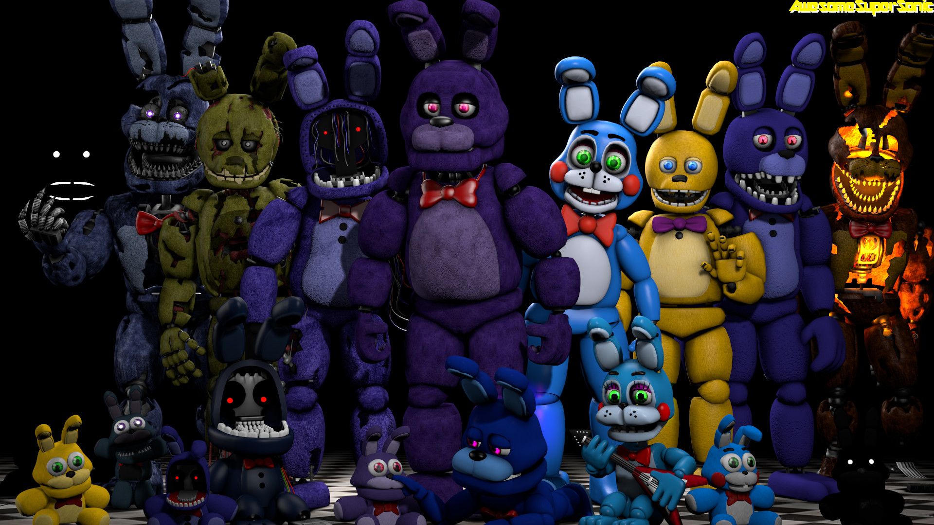 1920x1080 ... FNaF] Bunnies by AwesomeSuperSonic