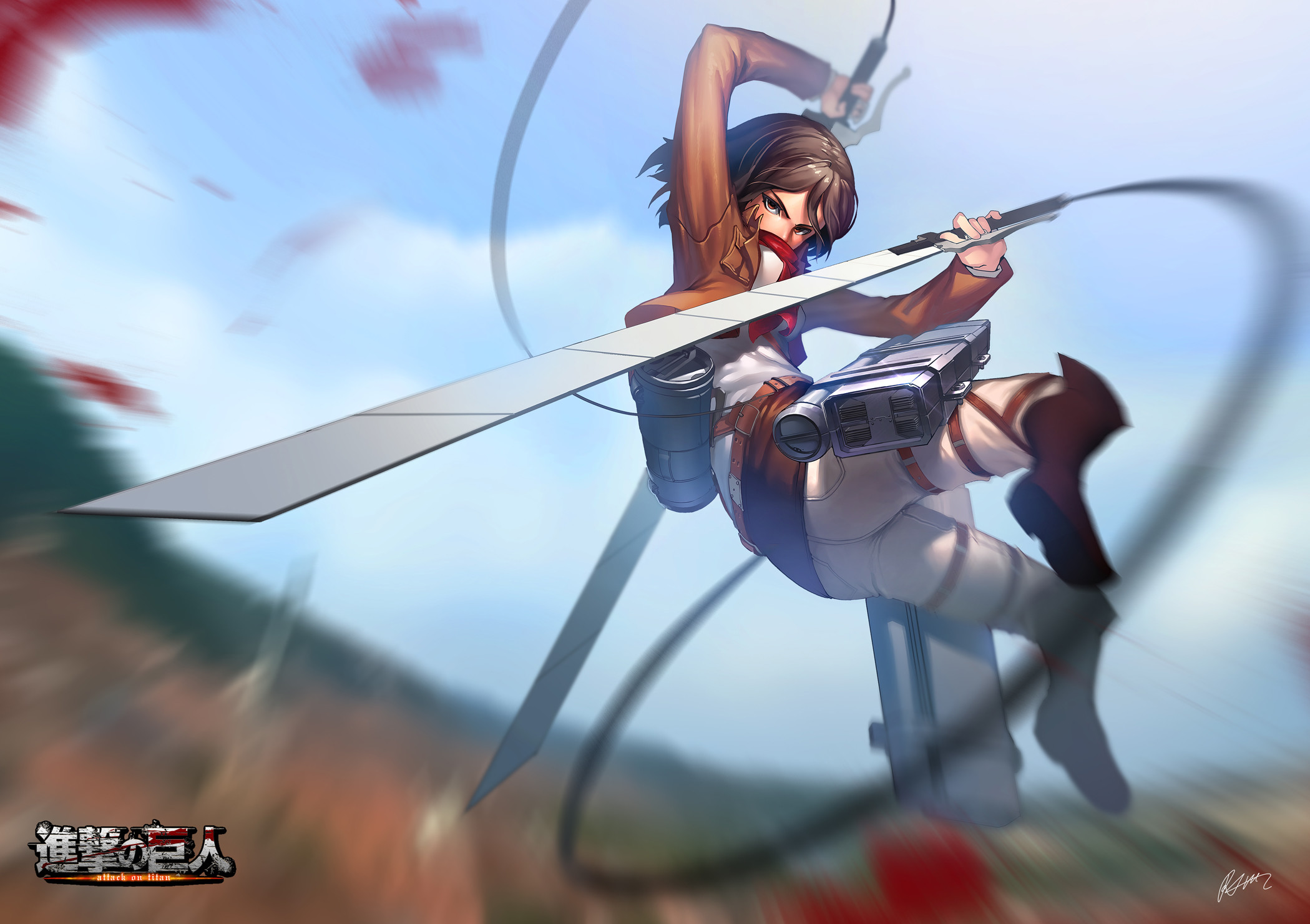 2099x1481 Mikasa Ackerman - Shingeki no Kyojin / Attack on Titan,Anime
