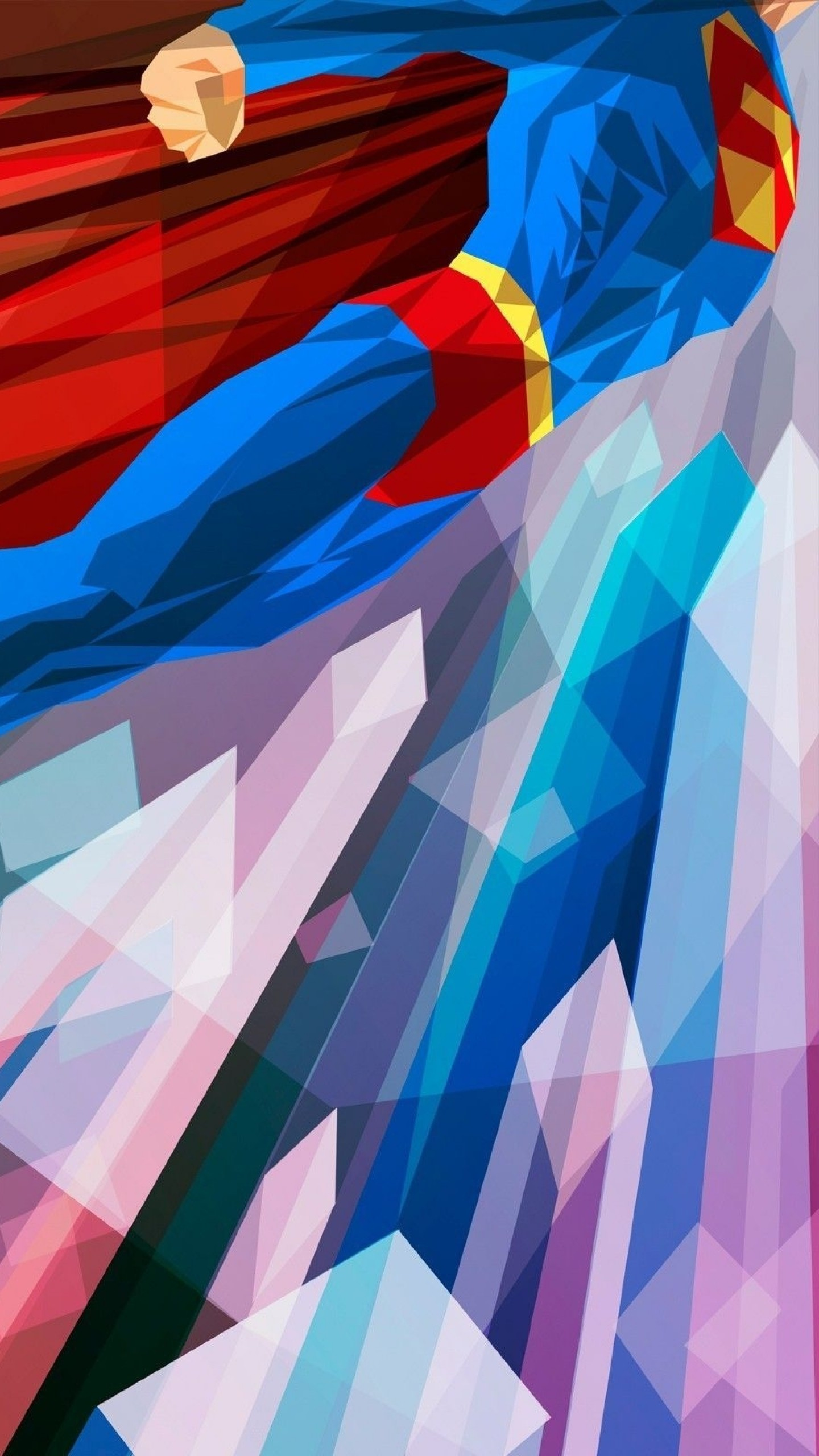 1440x2560 Preview wallpaper superhero, superman, bright