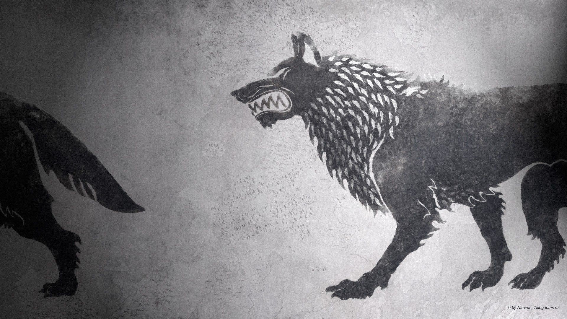 1920x1080 Fire sigil fan art hbo house stark wallpaper