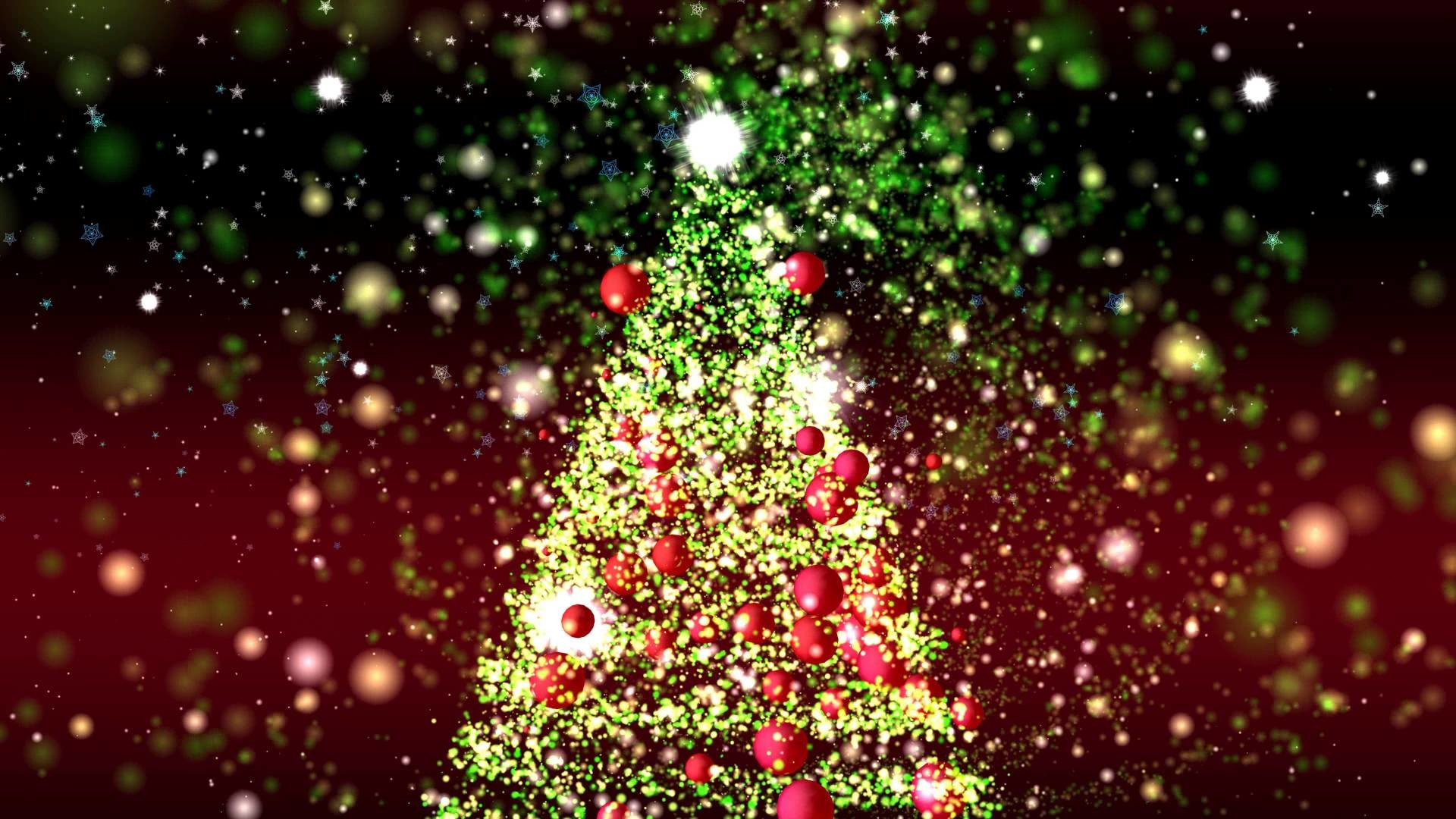 1920x1080 4K GREAT CHRISTMAS TREE ANIMATION ULTRA HD PARTICLES BACKGROUND AA VFX