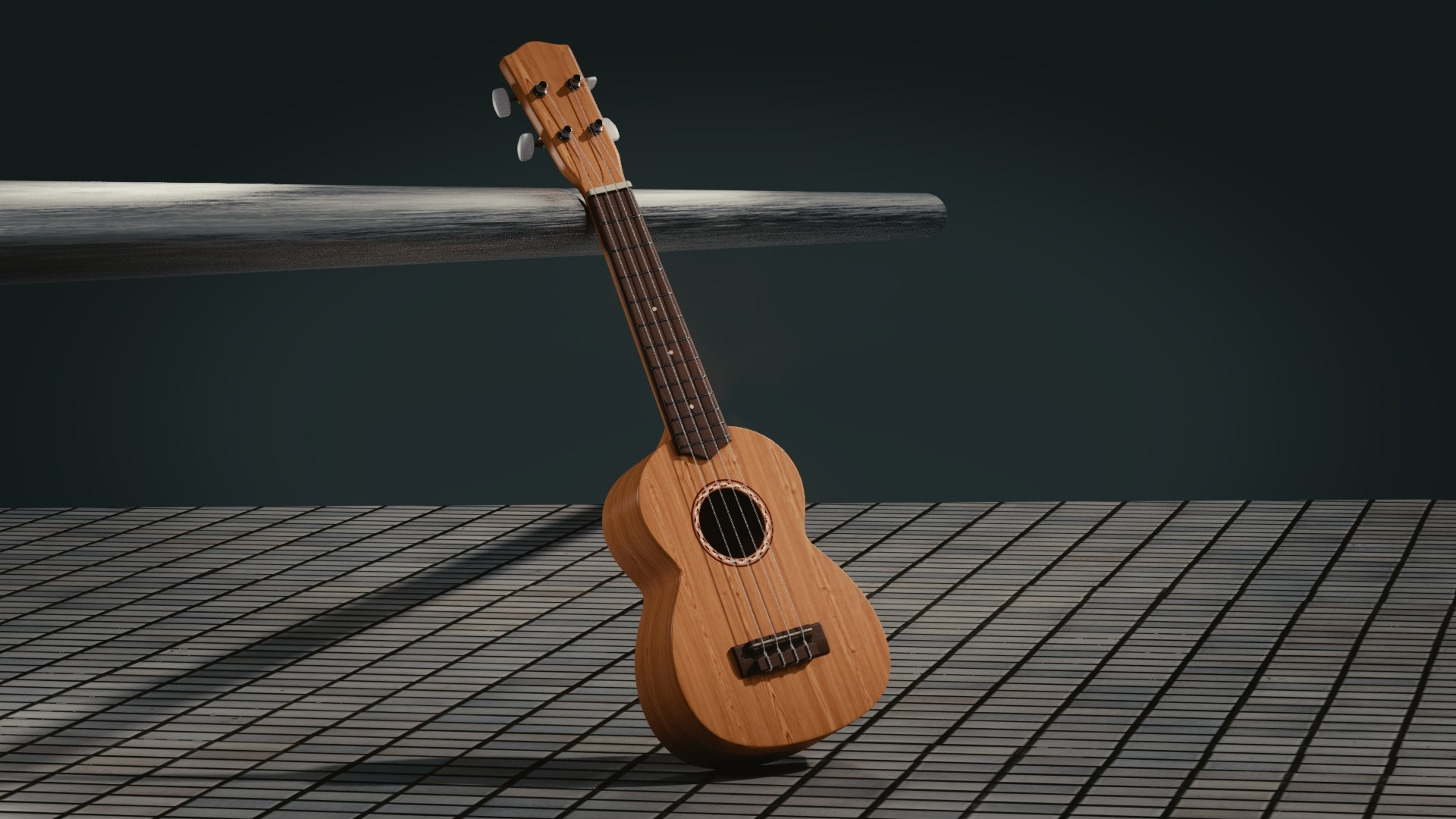 1920x1080 Preview wallpaper guitar, 3d, space, musical instrument
