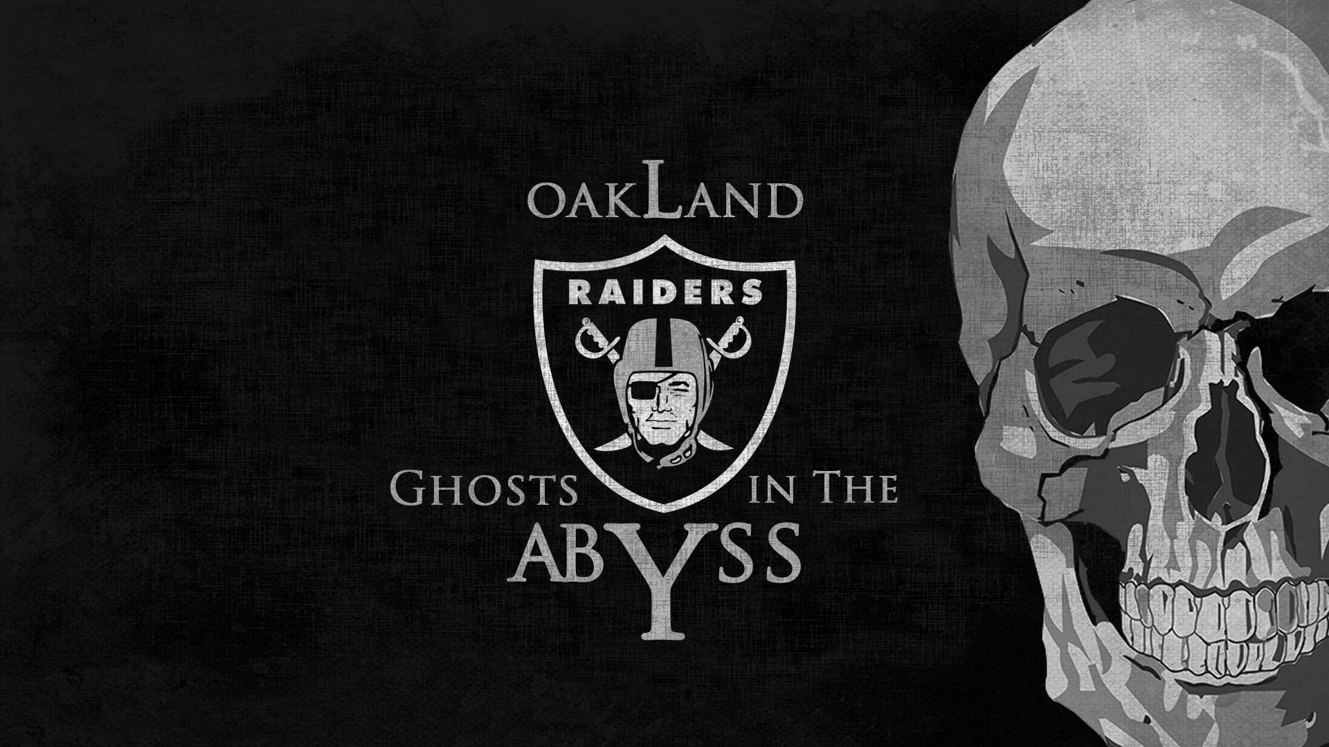 1920x1080 OAKLAND RAIDERS nfl football dark skull wallpaper background