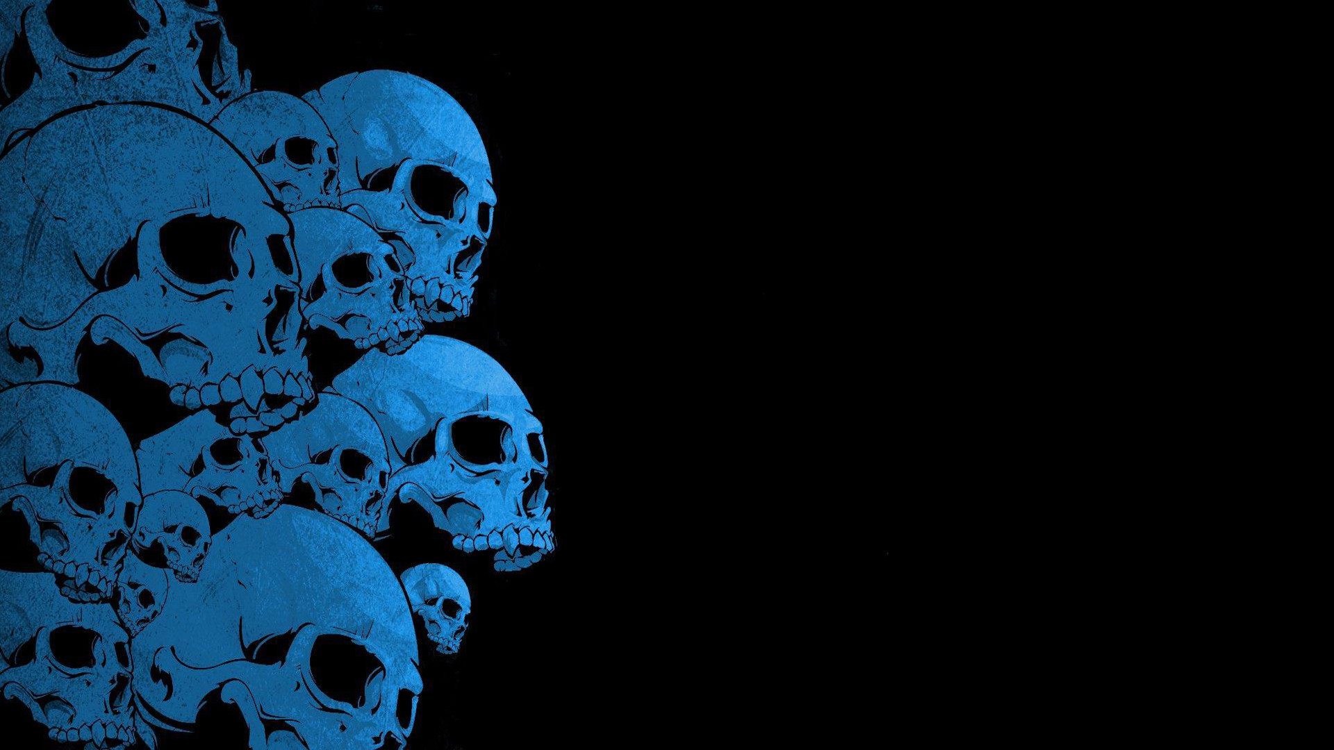 1920x1080 Blue Skull Backgrounds 55 Wallpapers