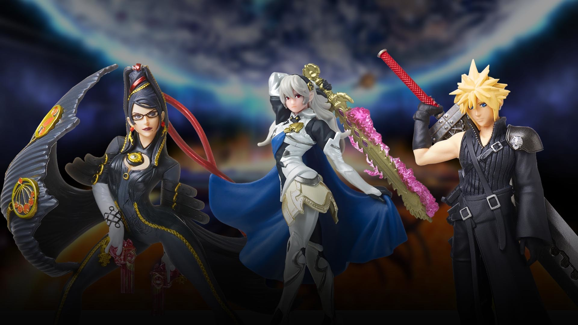 1920x1080 Unboxing | Super Smash Bros. Cloud, Corrin and Bayonetta amiibo (Player 2)  | Nintendo Wire
