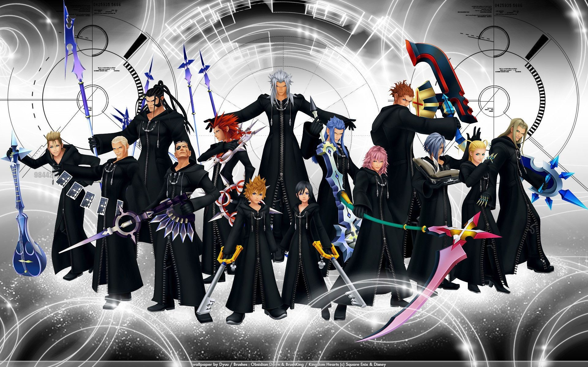 1920x1200 Kingdom Hearts Organization Wallpaper 1920×1200 Organization XIII Wallpapers  (42 Wallpapers) | Adorable