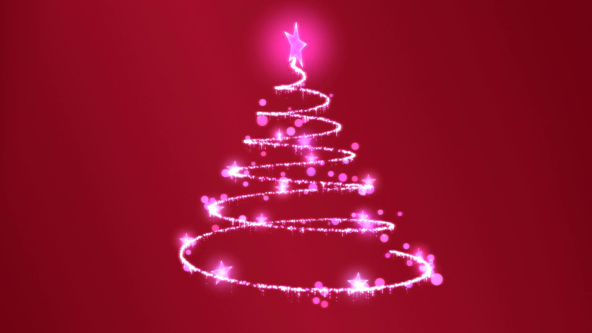 1920x1080 rotating christmas tree animation loop pink red motion background  videoblocks