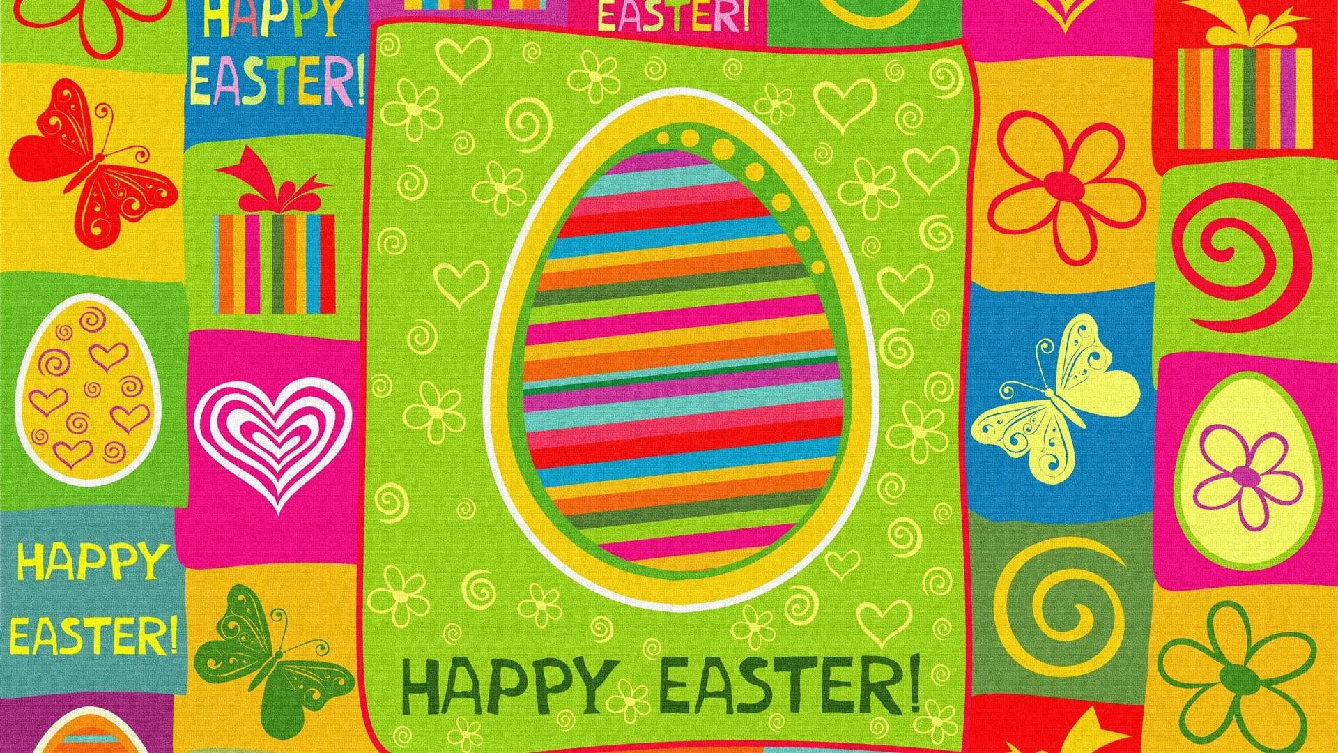 1920x1080 Download Colorful Happy Easter Wallpaper | Full HD Wallpapers