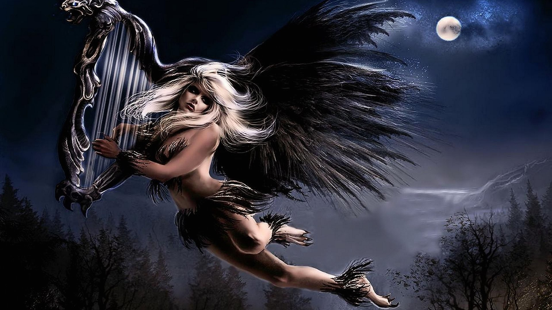 1920x1080 Wallpaper dark angel