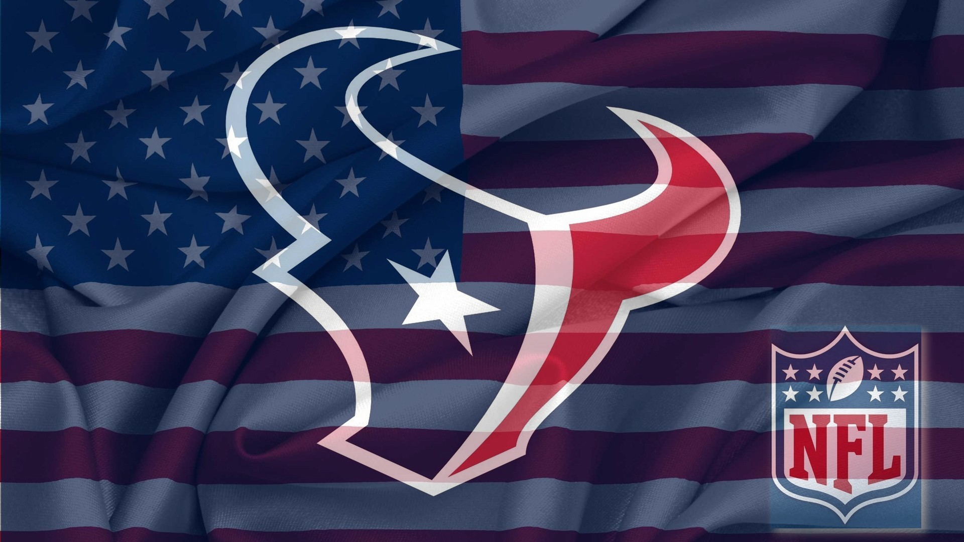 1920x1080 NFL Houston Texans Logo With NFL Logo On USA American Flag Background .