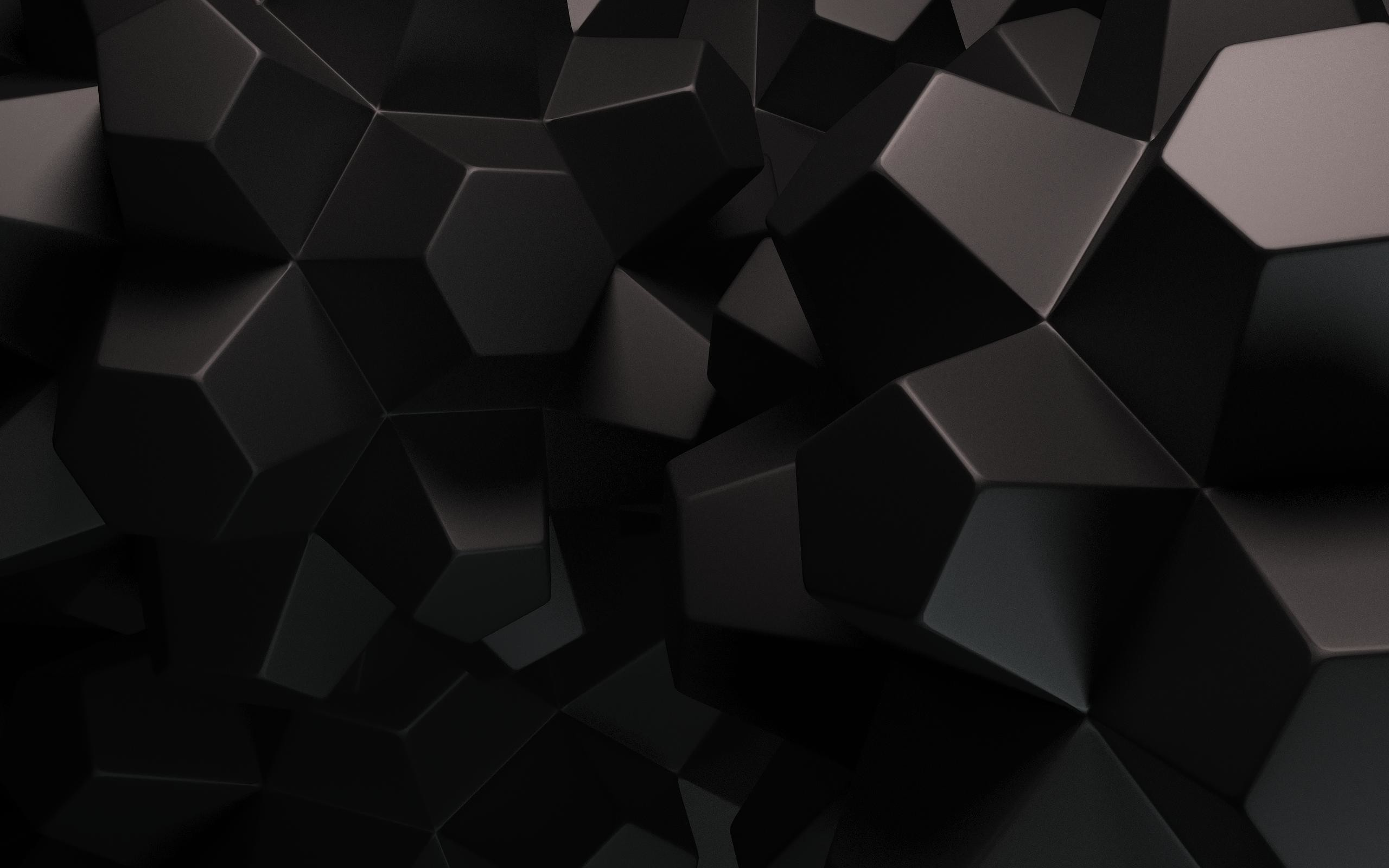 2560x1600 Dark Color 3D Chocolate Pieces Abstract