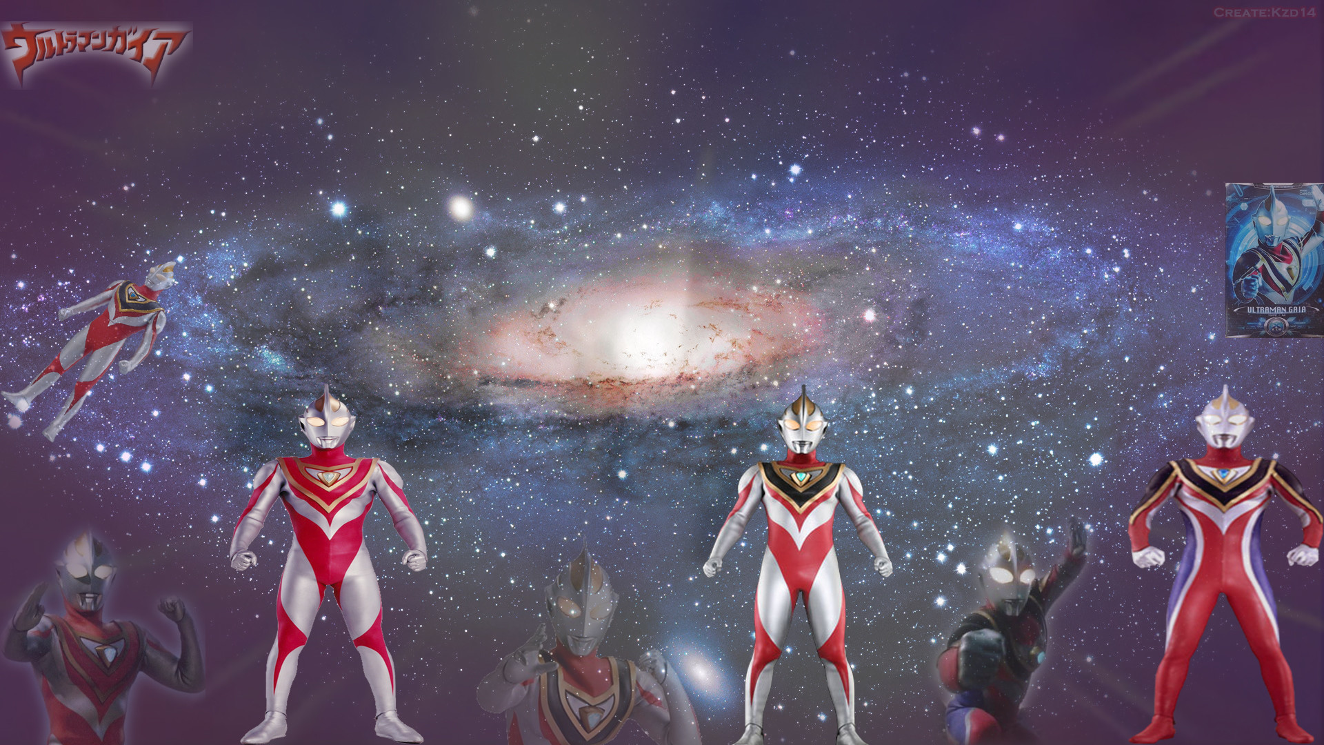 1920x1080 Ultraman gaia all form by Kzd14 Ultraman gaia all form by Kzd14