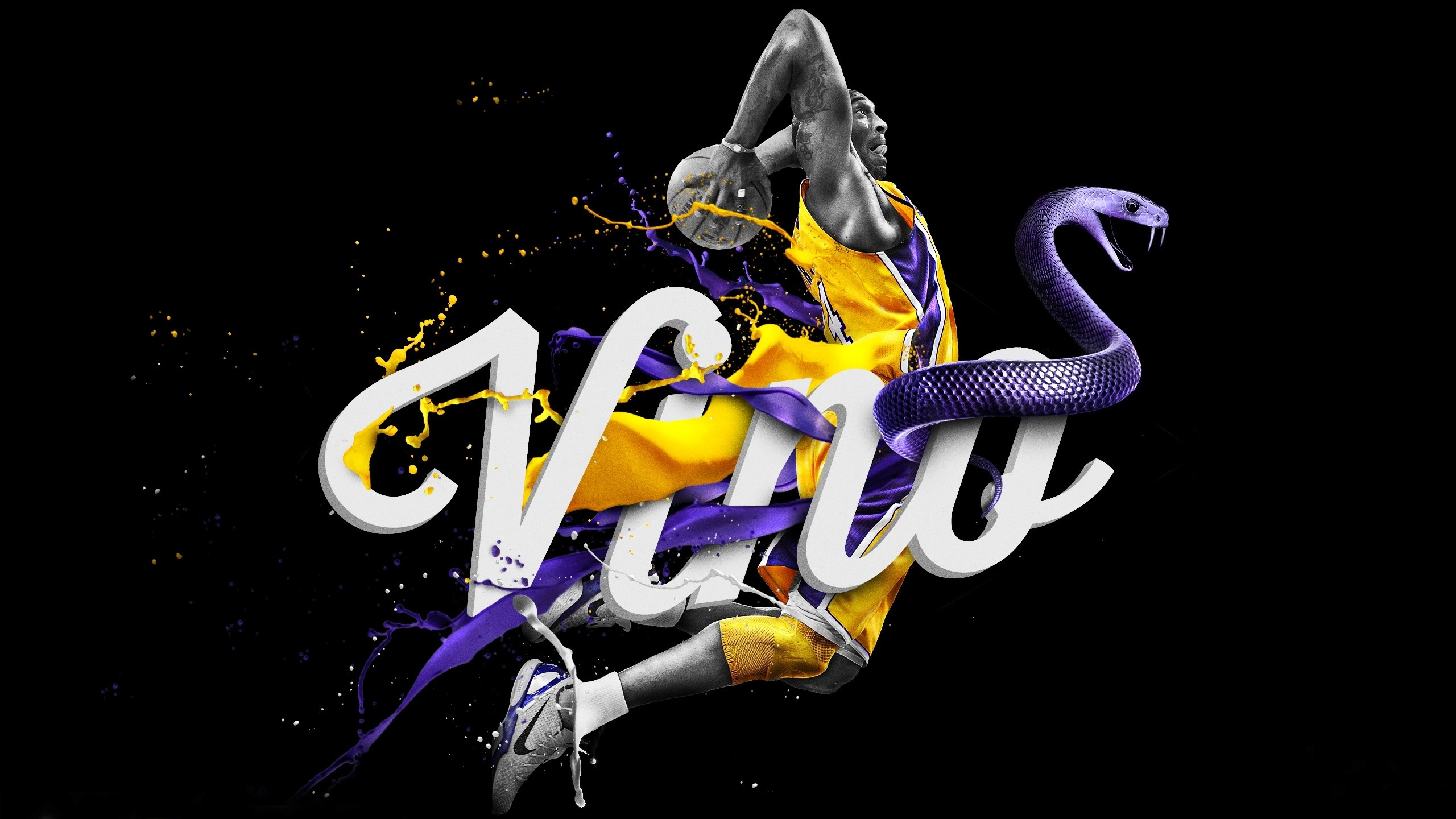 pretty nice 75491 8dc70 2560x1440 2560x1440 Wallpaper los angeles lakers, nba, kobe bryant, logo,  basketball