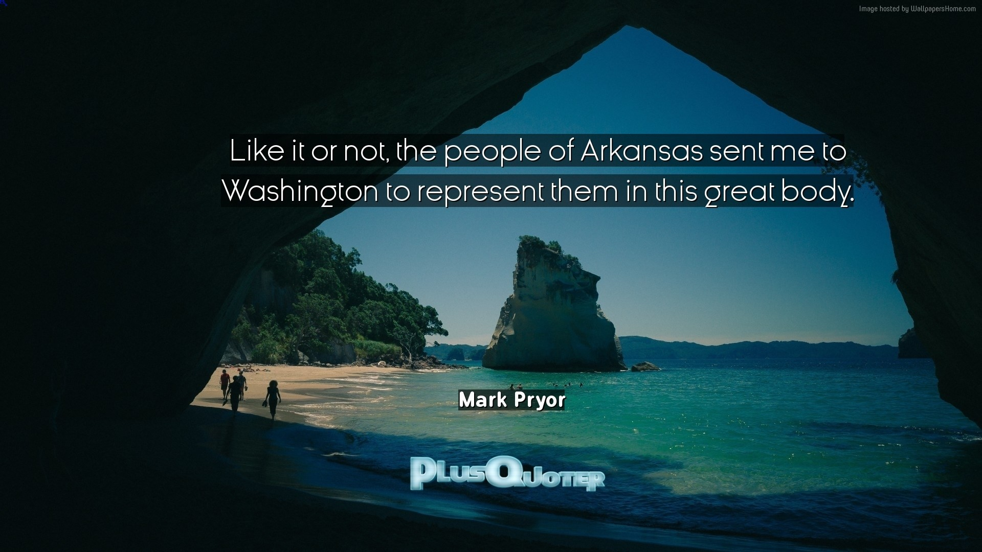 "1920x1080 Download Wallpaper with inspirational Quotes- ""Like it or not, the people  of Arkansas"