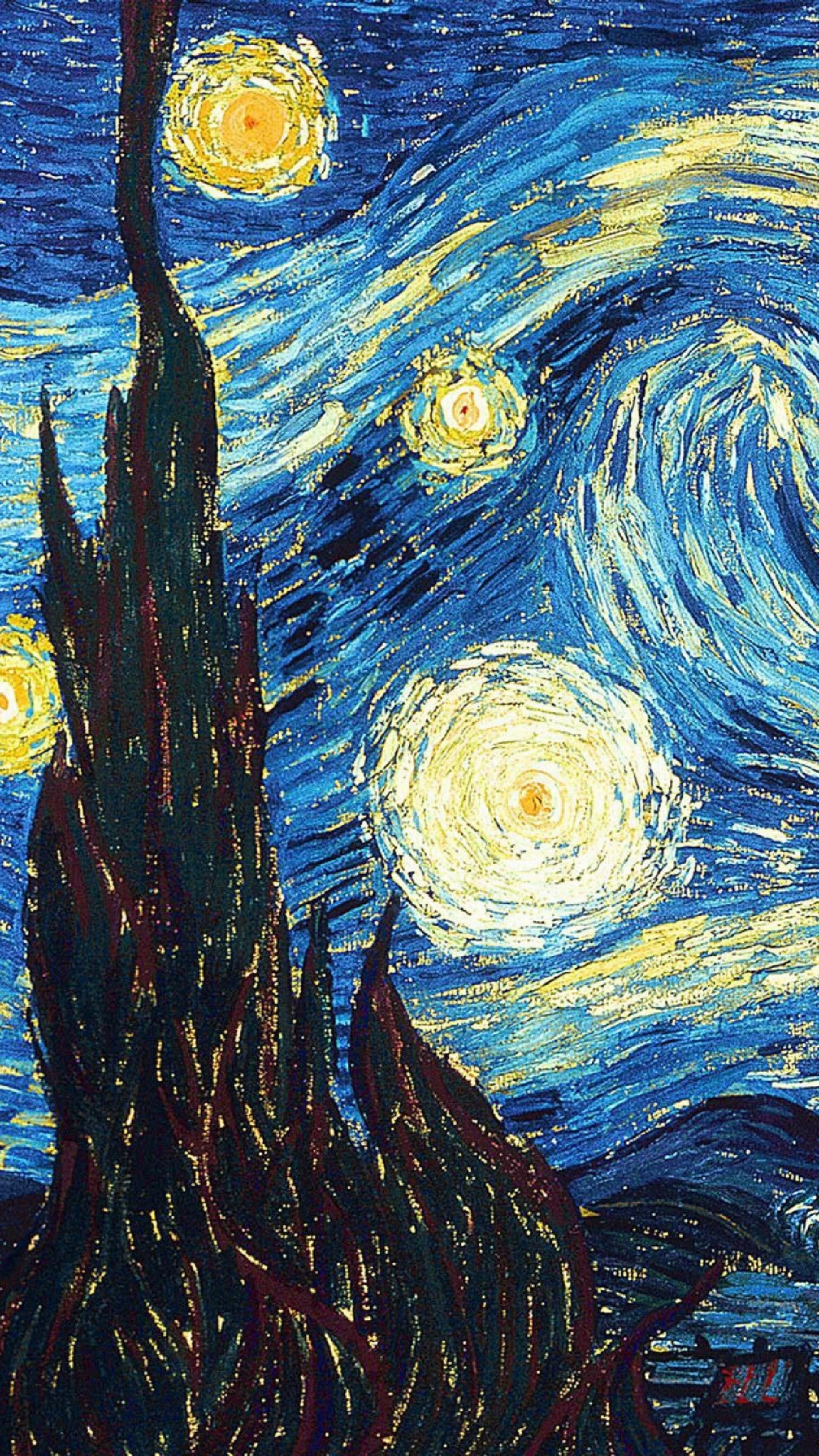 Starry night desktop background 67 images - Vincent van gogh wallpaper ...