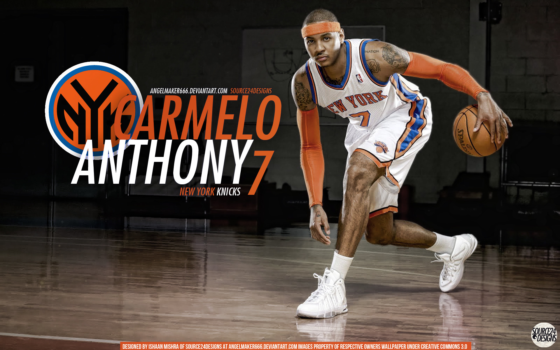 1920x1200 Carmelo Anthony Knicks Wall by IshaanMishra Carmelo Anthony Knicks Wall by  IshaanMishra