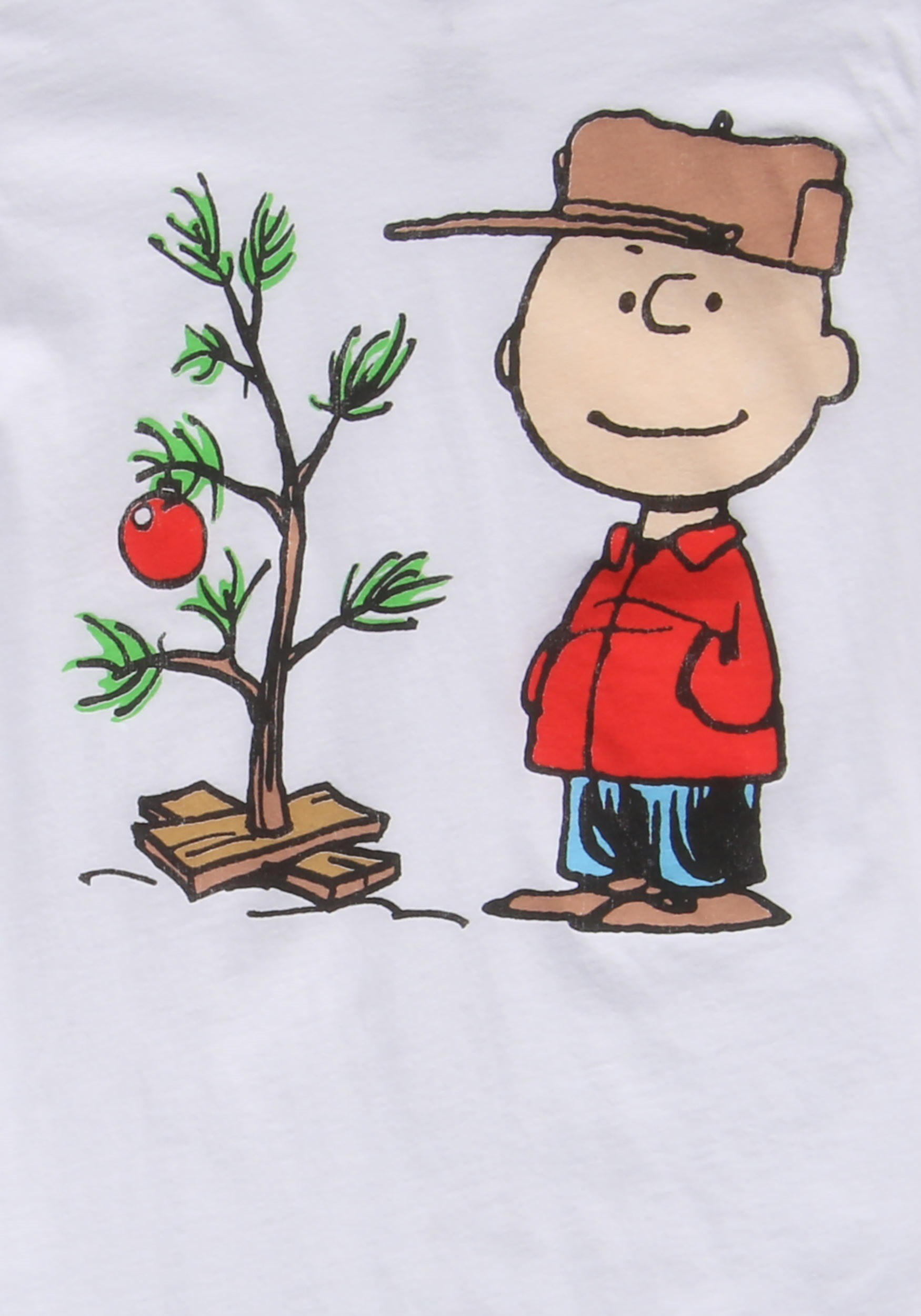 1750x2500 Juniors Charlie Brown Christmas Tree T-Shirt