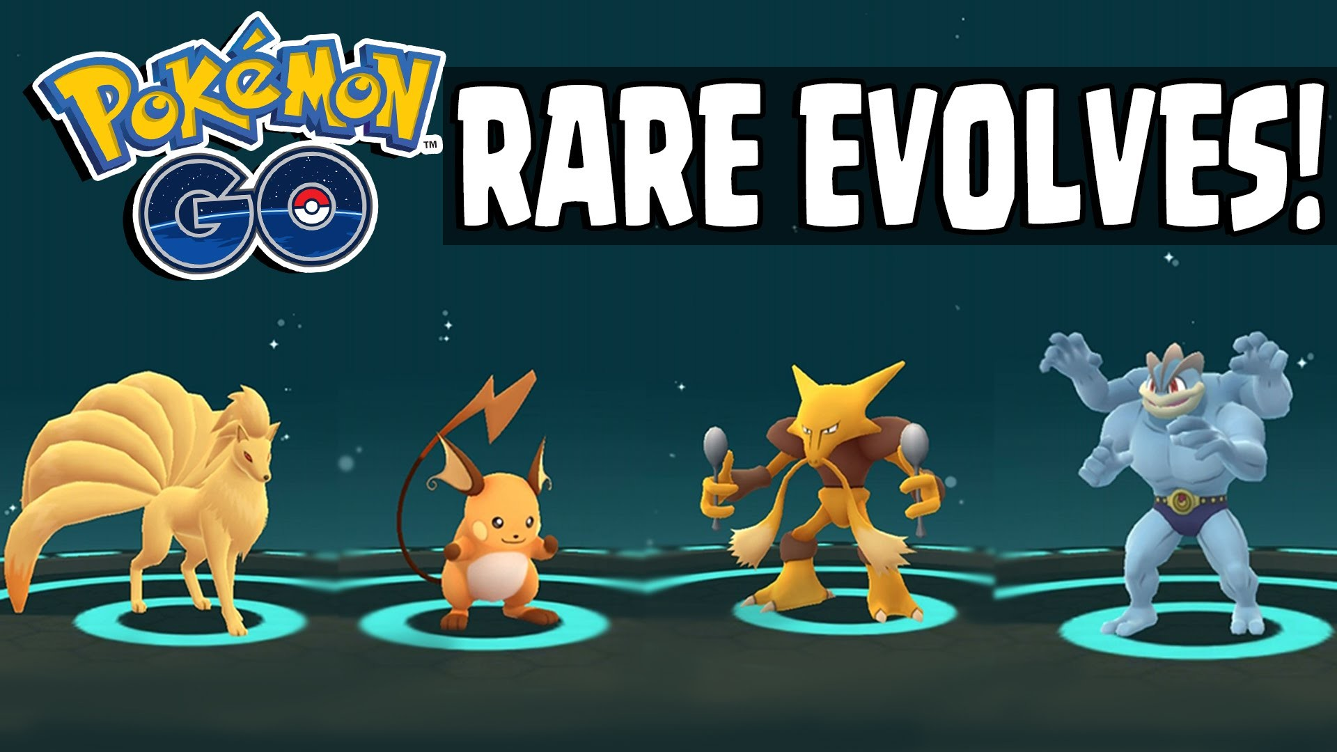 1920x1080 Pokemon GO | RARE POKEMON EVOLVING SPREE - Alakazam, Raichu, Machop,  Ninetails & More! - YouTube