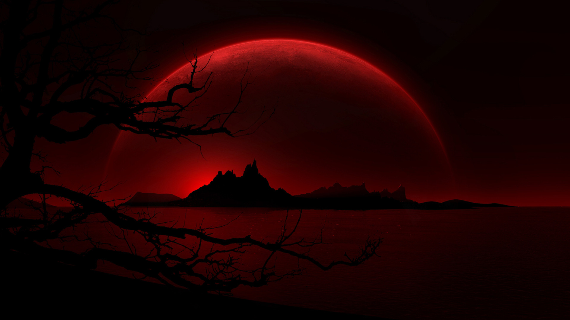 blood red moon wallpaper 55 images
